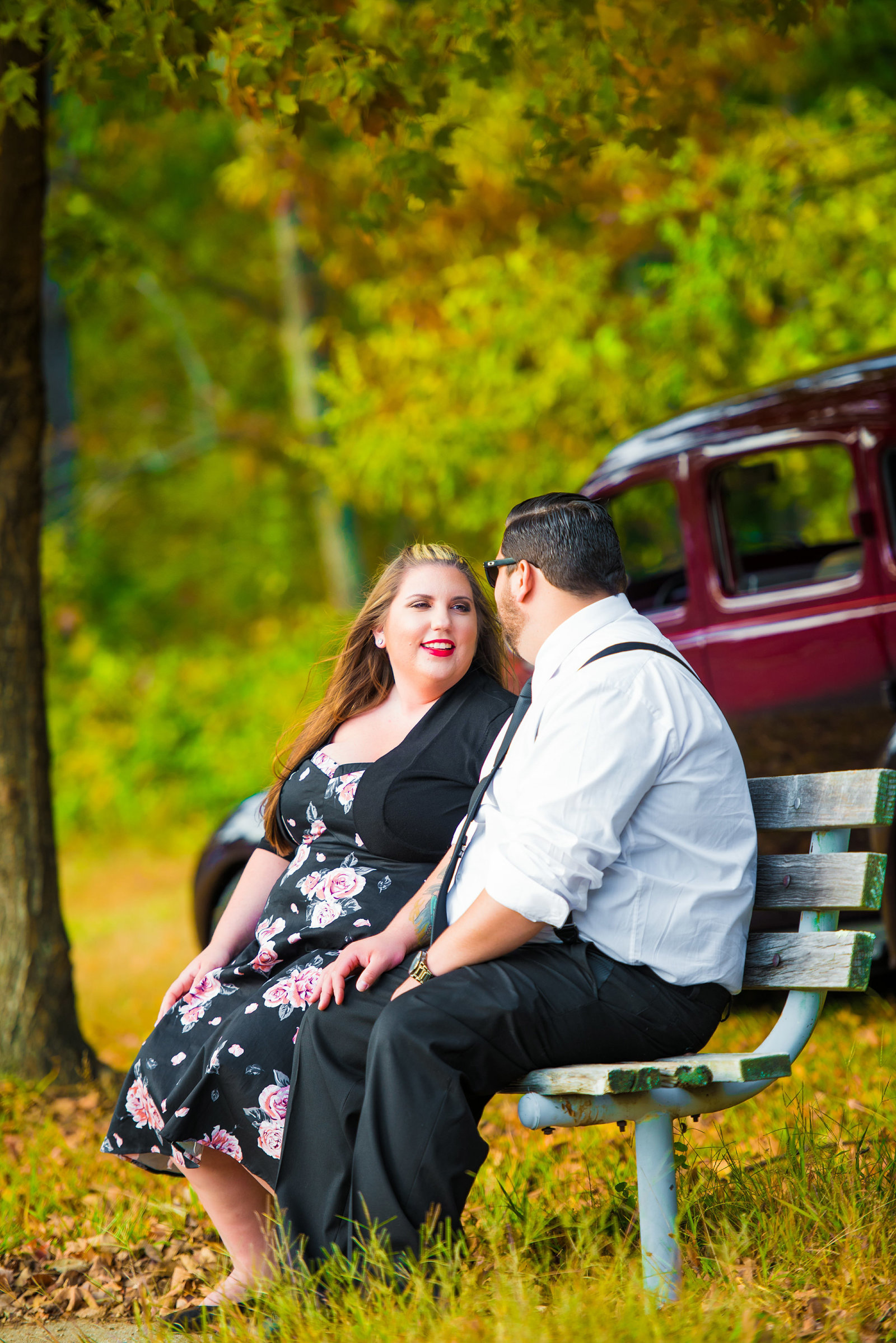 Retro_Pinup_Car_engagement_session_Nj058