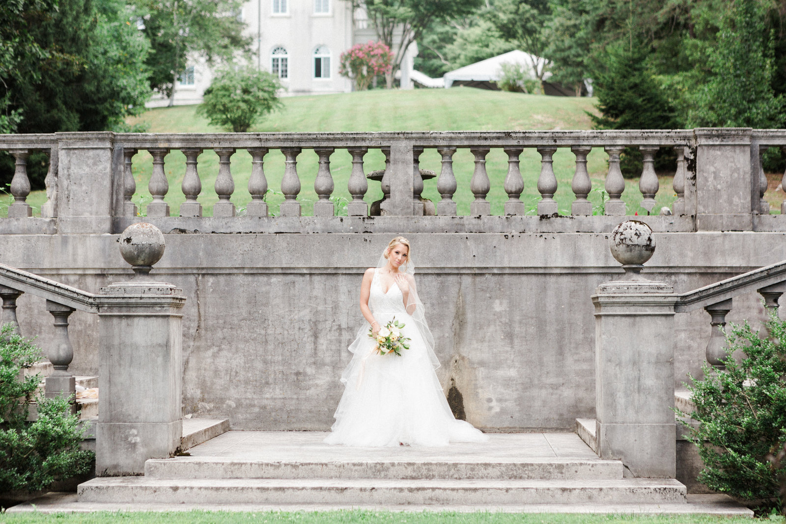 Strong Mansion at Sugarloaf Mountain Bridal Portrait