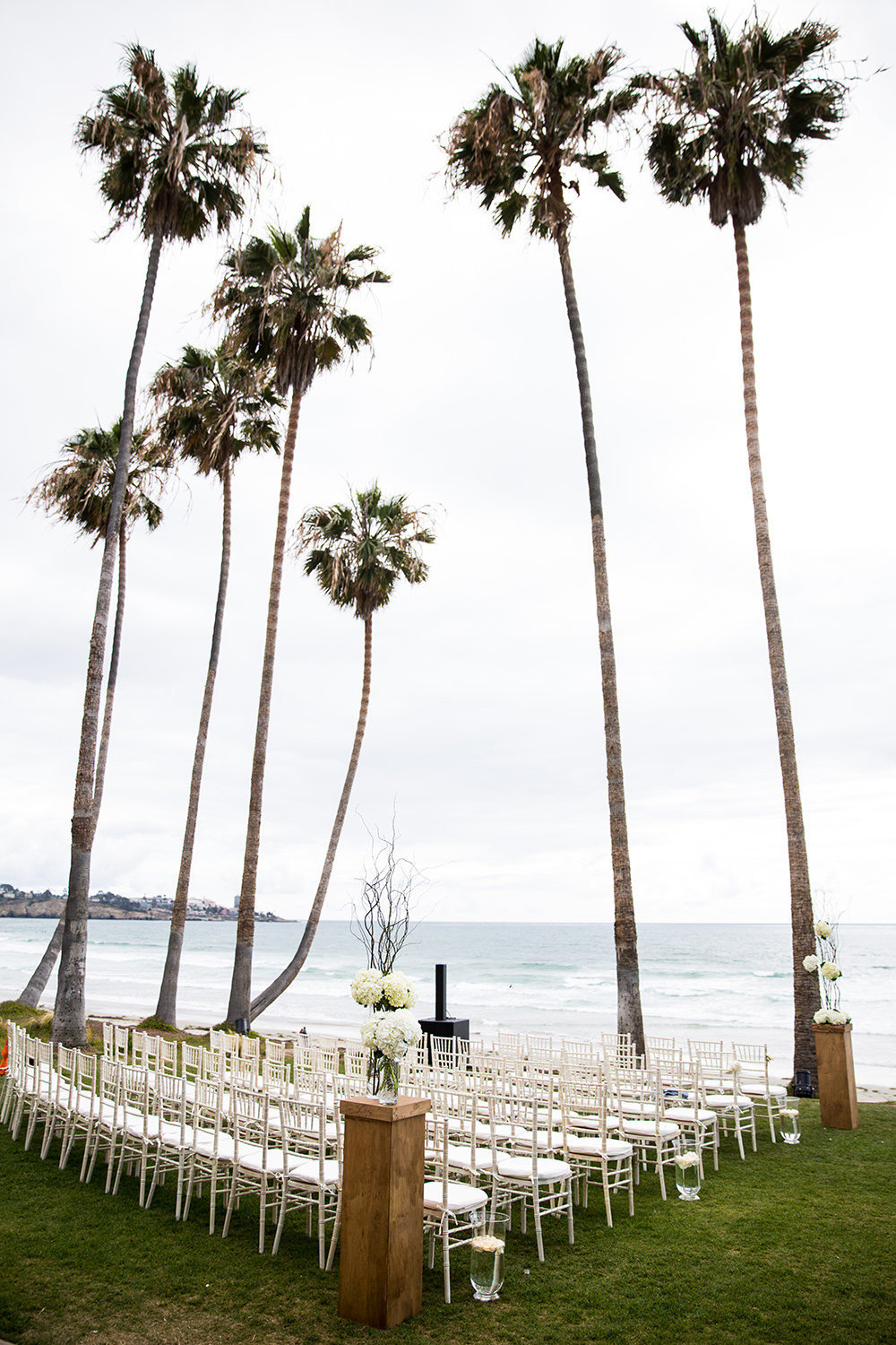 ceremony space with ocean views