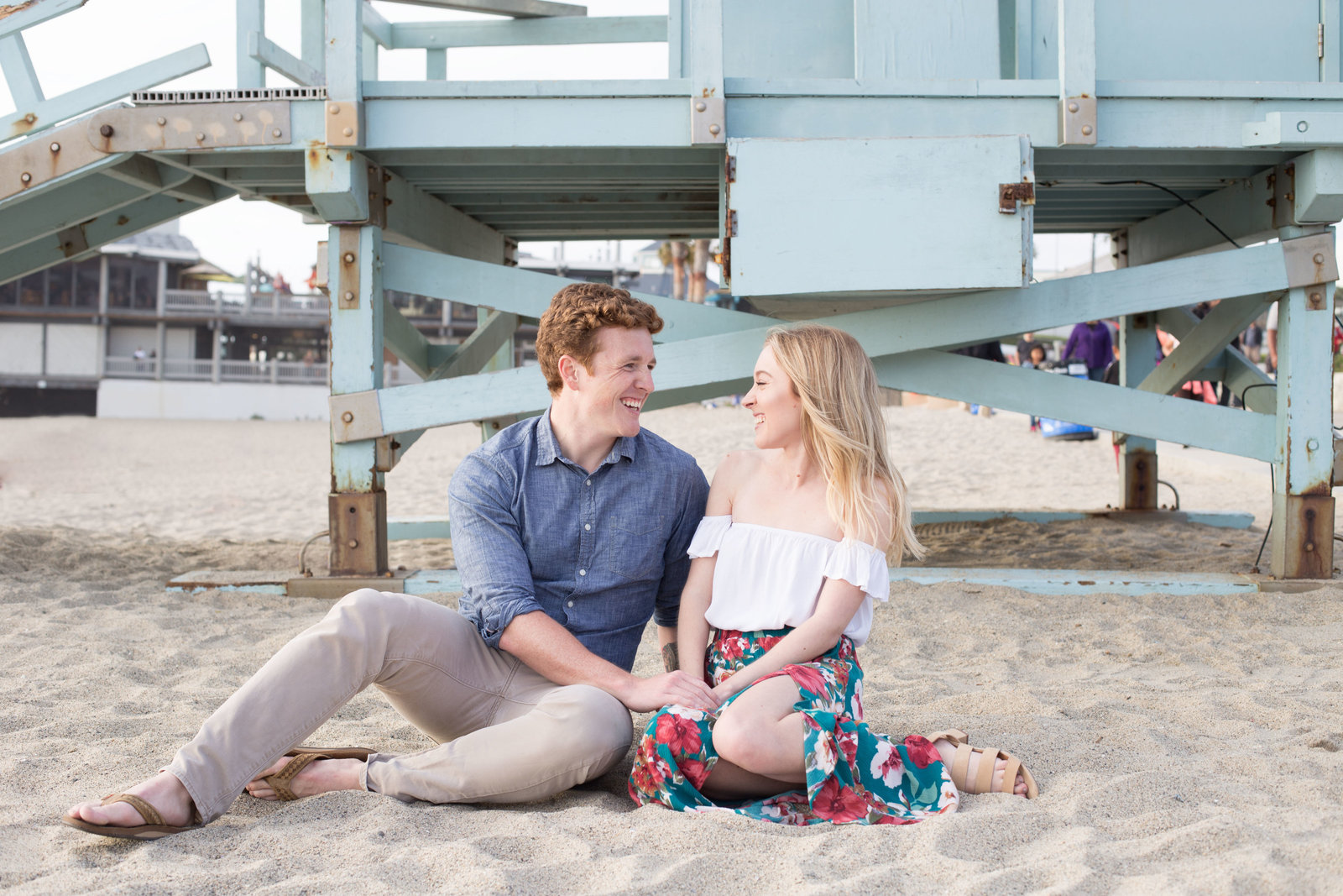 Redondo Beach Pier engagement session