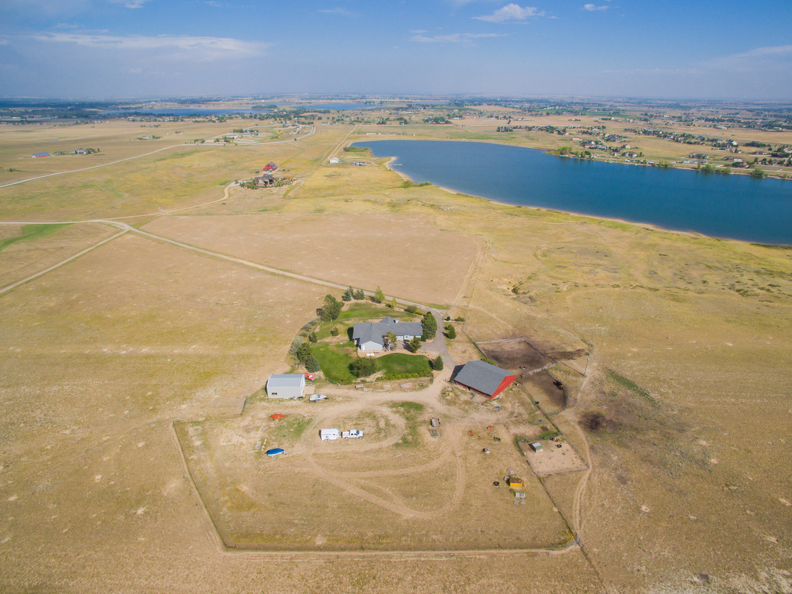 Berthoud Colorado Aerial Photo Home 6