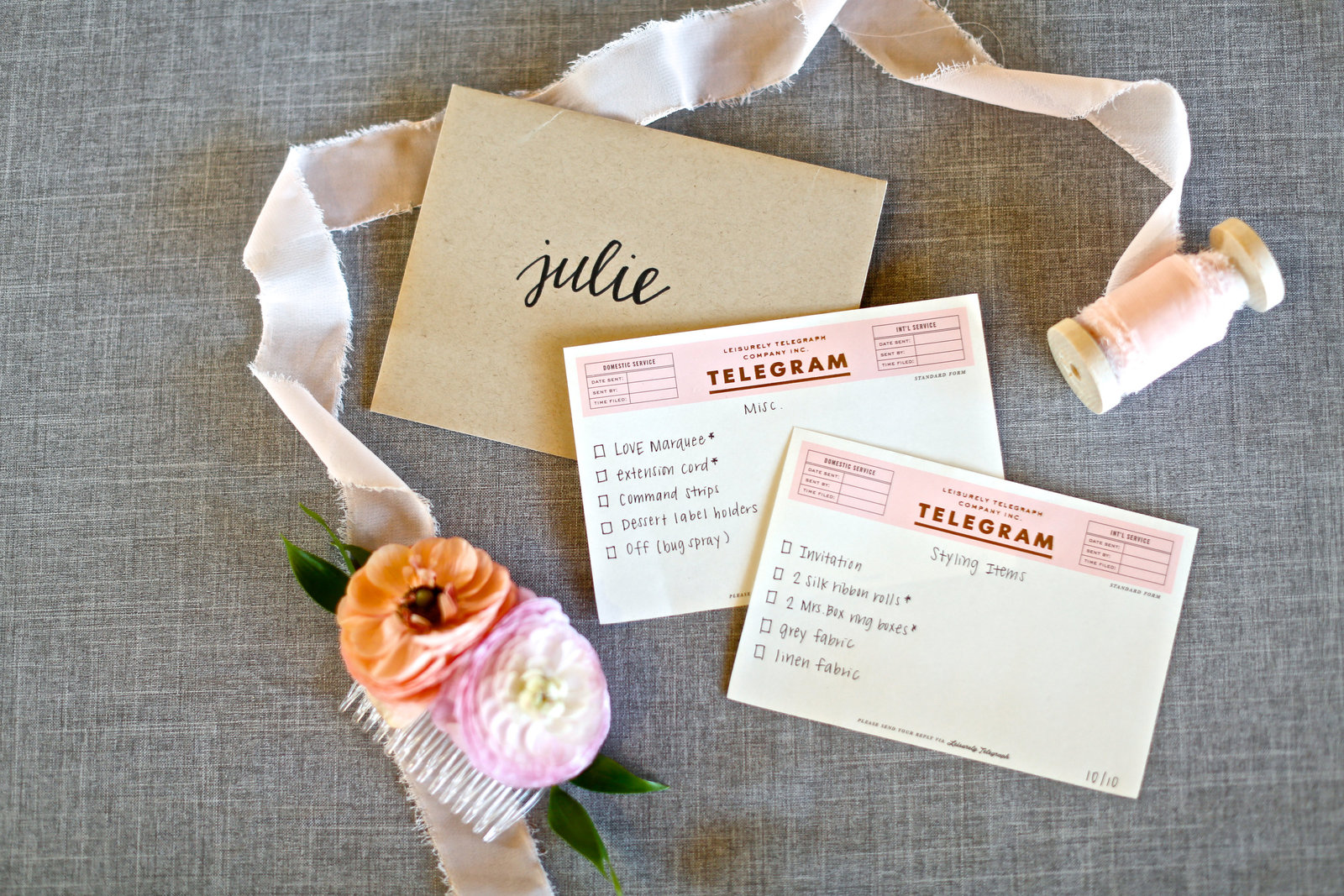 beautiful stationery suite and to do list
