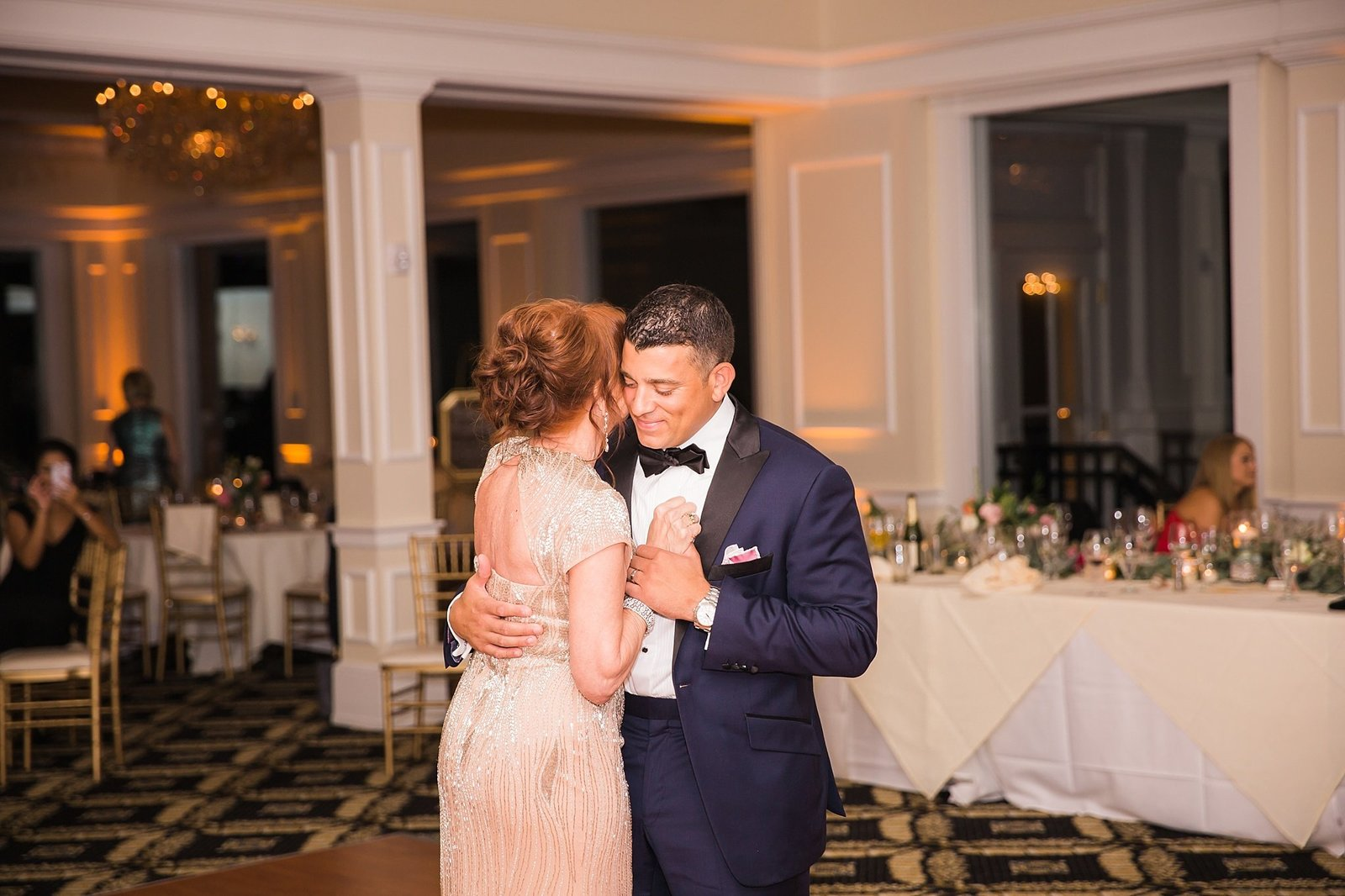 M Harris Studios_Trump National Golf Club Wedding_groom and mother dancing