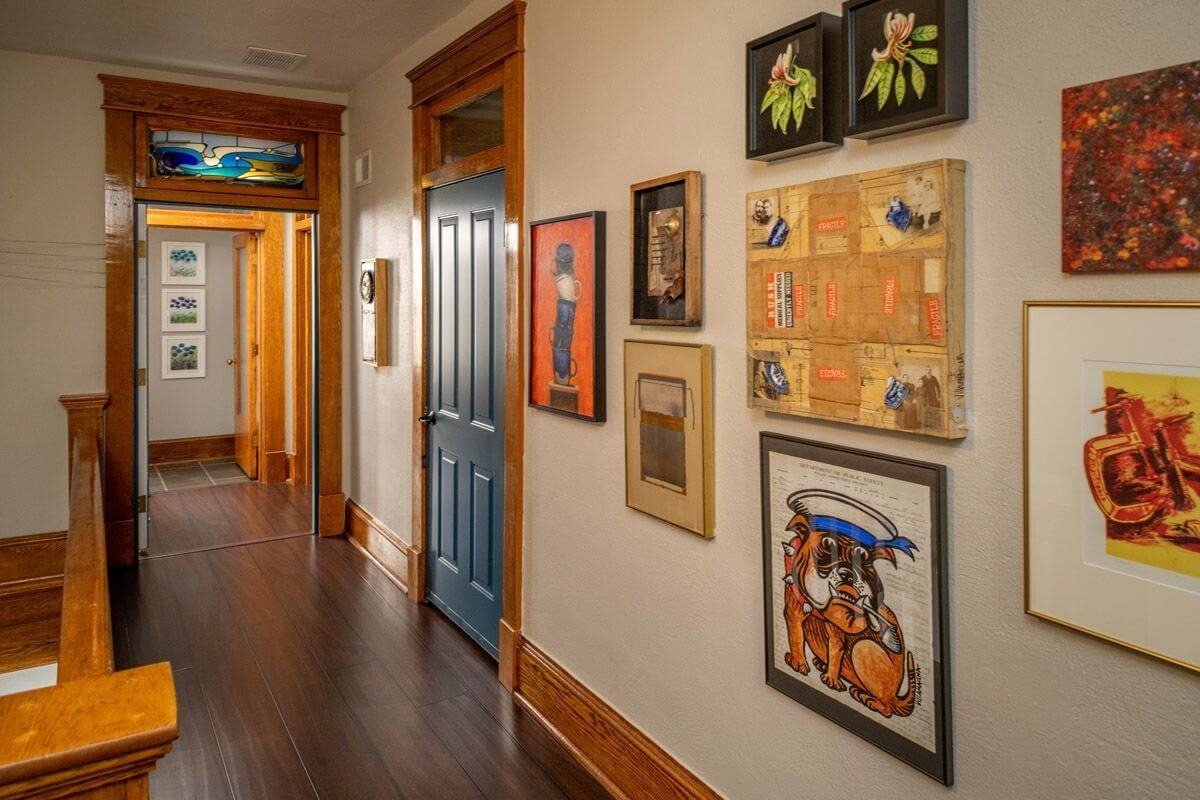 The art gallery of our boutique hotel, Lafayette Flats.