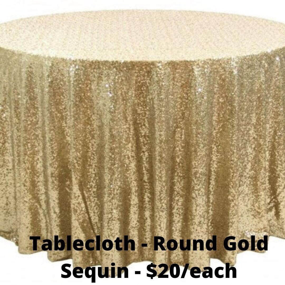 round gold sequin