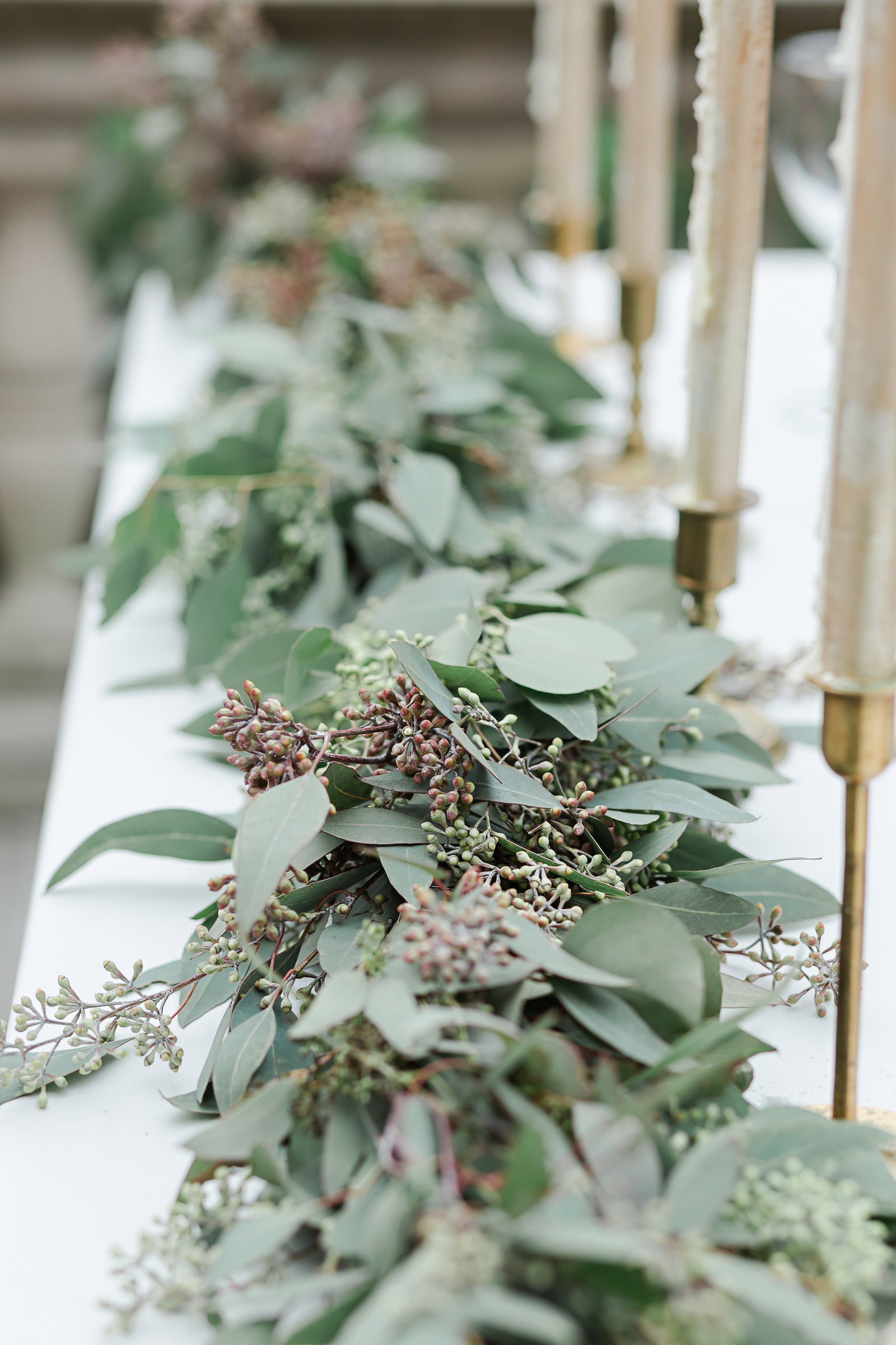 aurel Hall Indianapolis wedding details bridal table