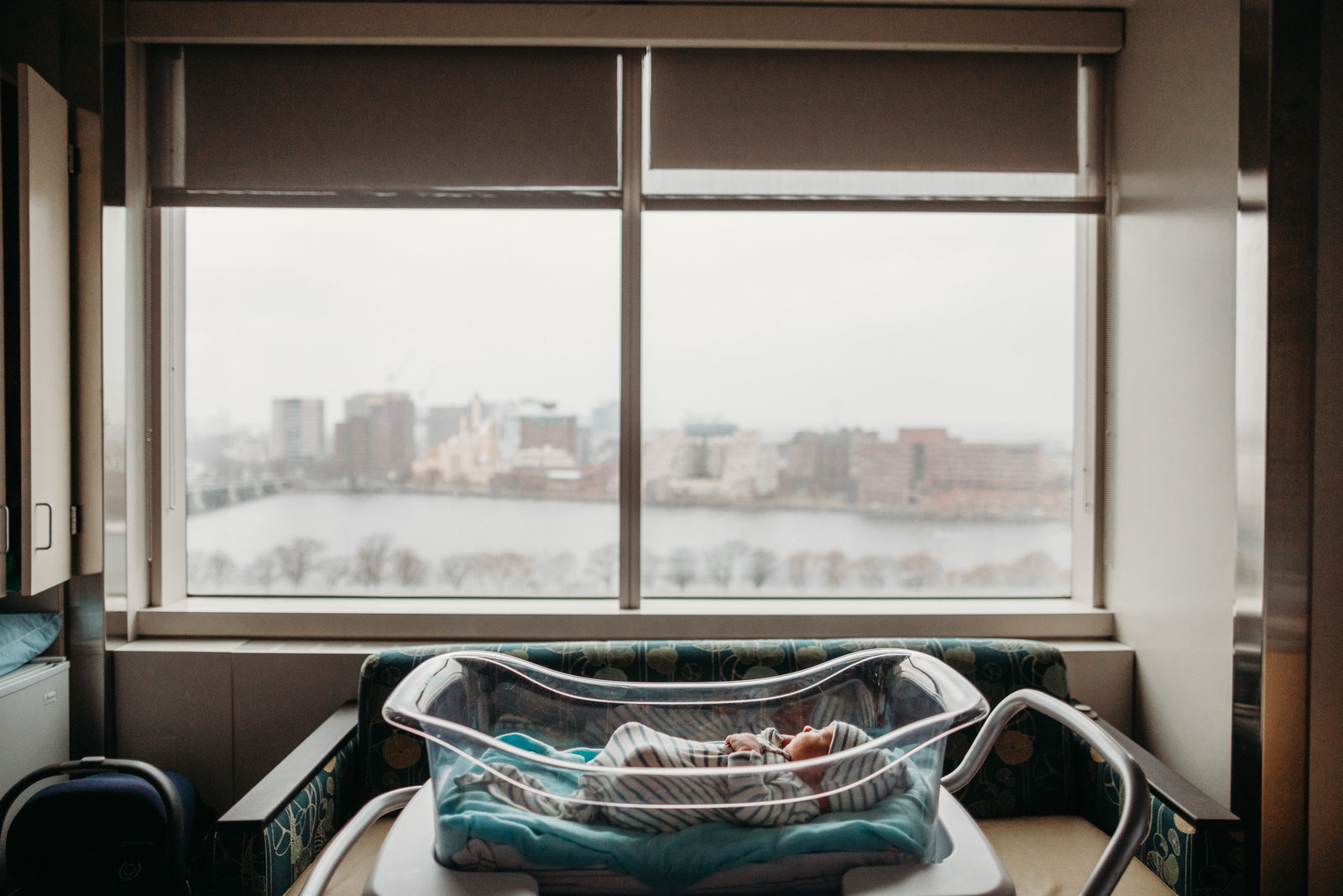 hospital windows overlooking boston during fresh 48