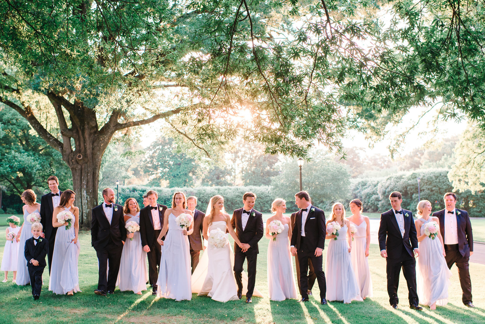 Top North Carolina Wedding Photographers  - bridal party large group photography