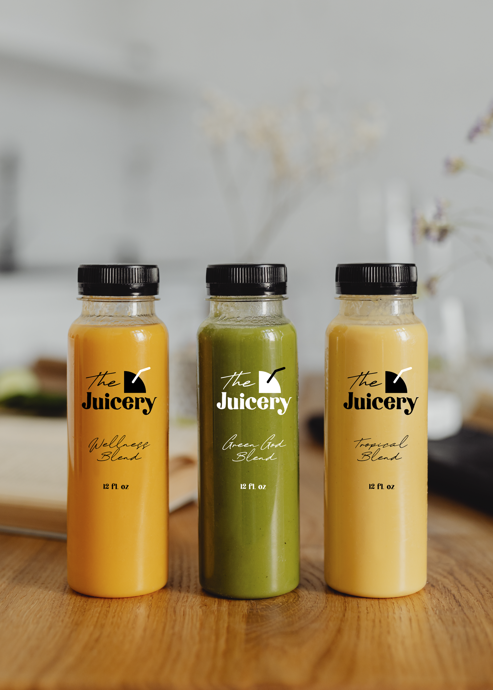 Juice label mockup