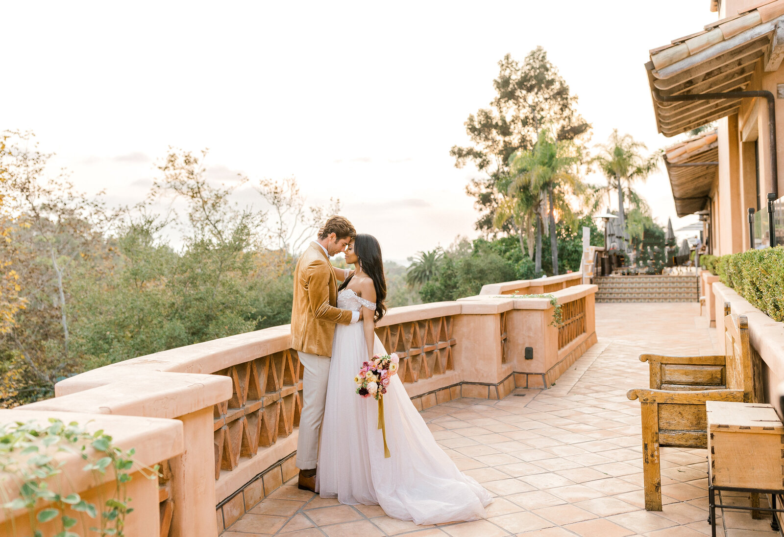 beautiful wedding at rancho valencia resort and spa