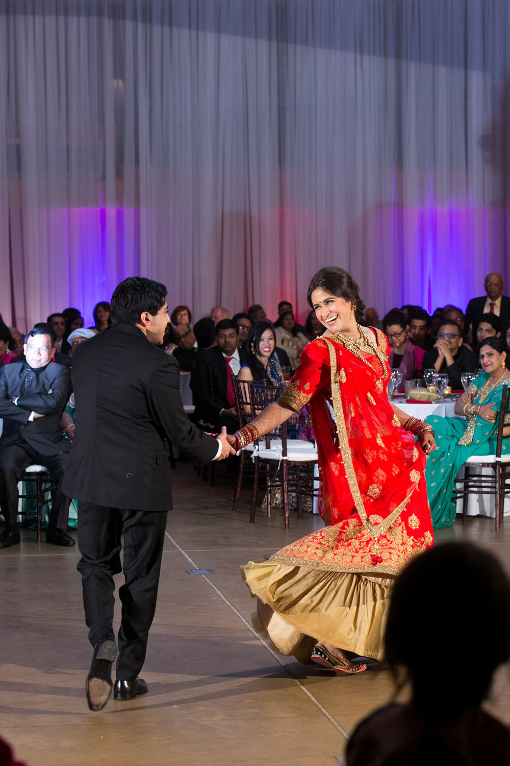 The first dance for a newlywed Indian couple