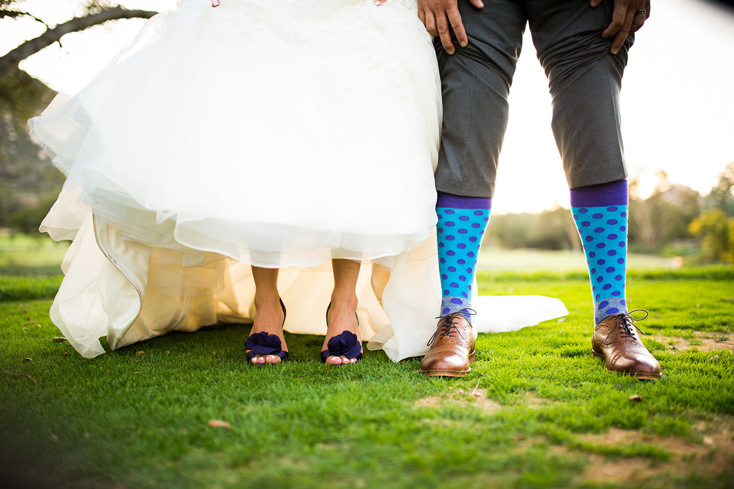 groom with funny socks
