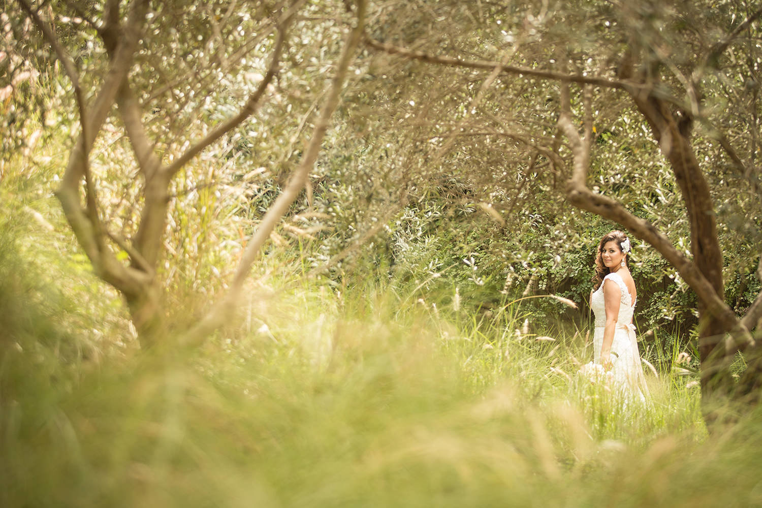 Rustic setting for a bridal portrait at Estancia La Jolla