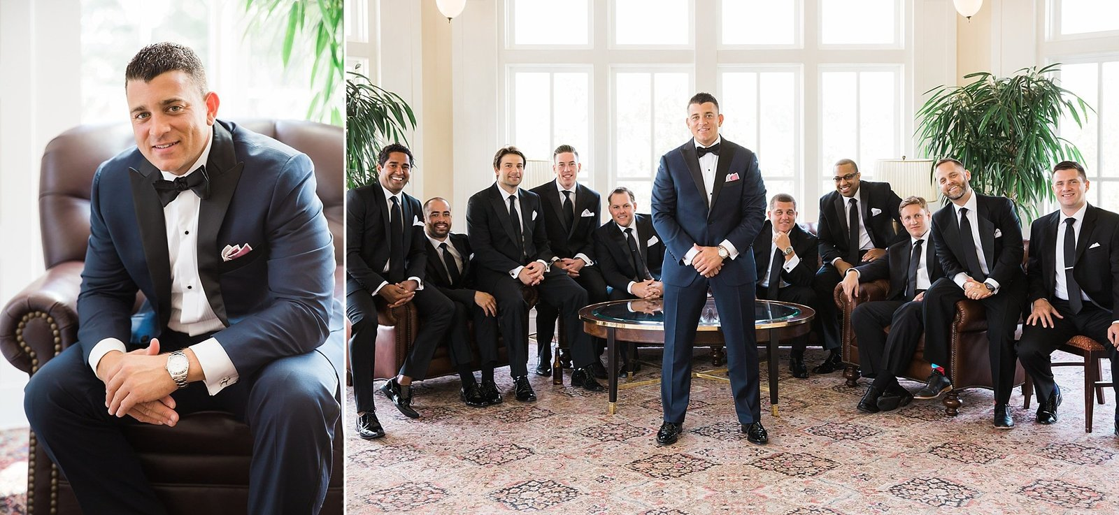 M Harris Studios_Trump National Golf Club Wedding_classic groom portraits in tux