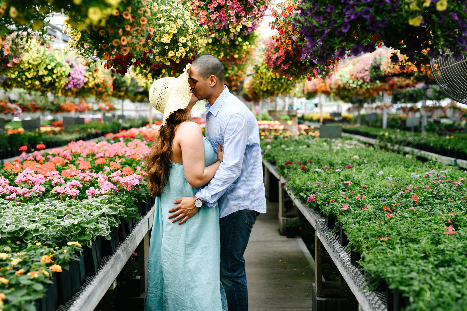 Greenhouse-engagement-session-Columbiana-OH
