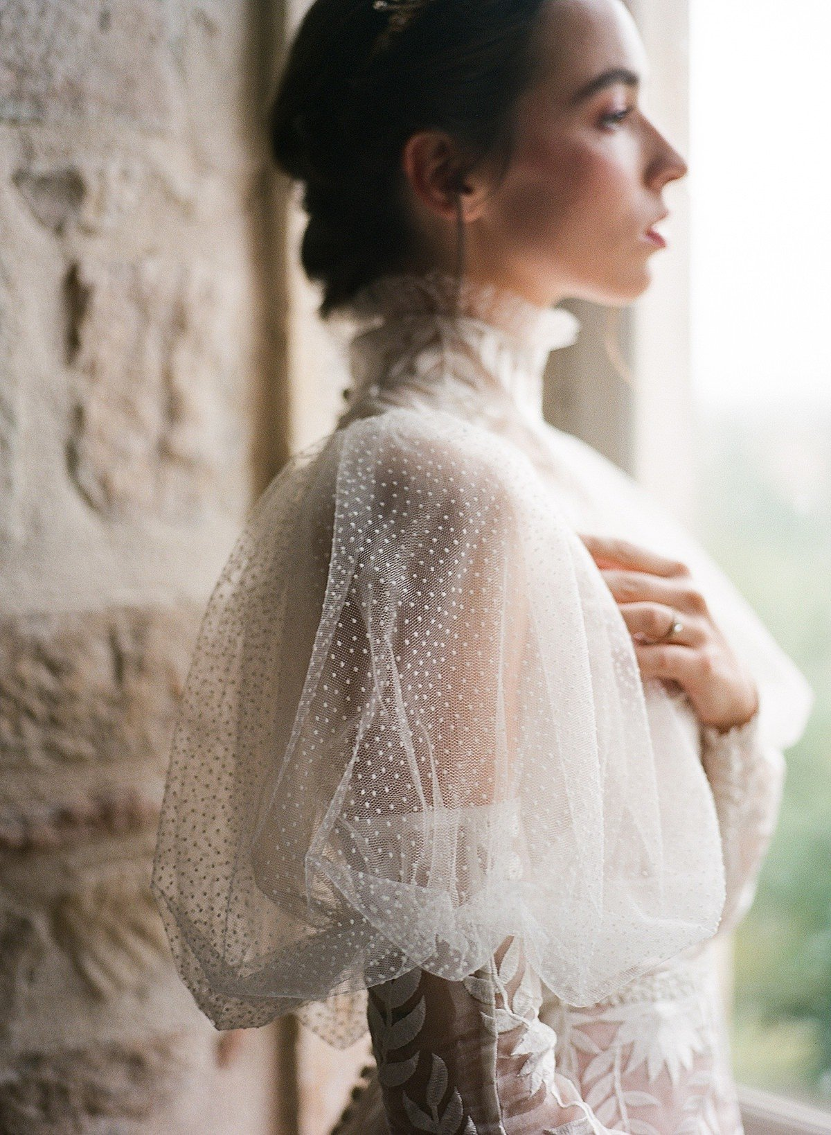 Helianthus-high-neck-puff-sleeve-wedding-dress-JoanneFlemingDesign-CelineChhuonPhoto (18)_WEB