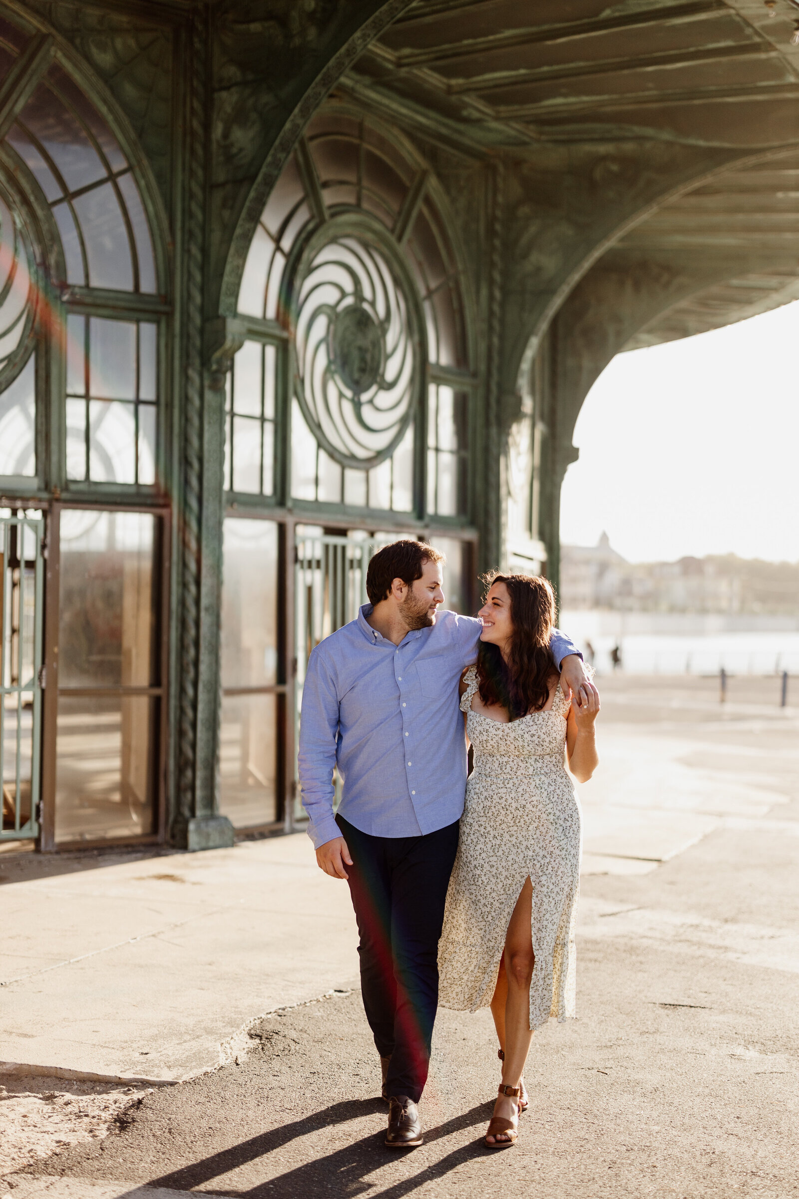 engaged couple asbury park