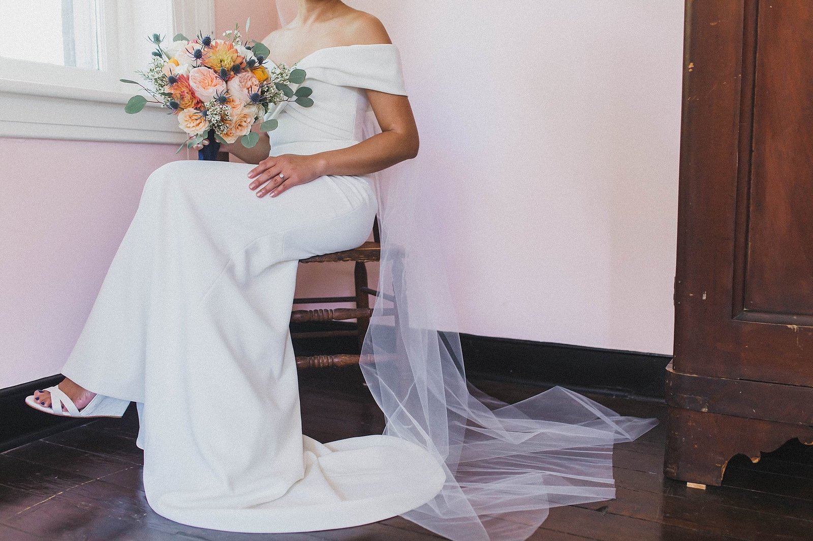 M Harris Studios_Braehead Manor_VA Wedding Photographer_bridal portrait with veil