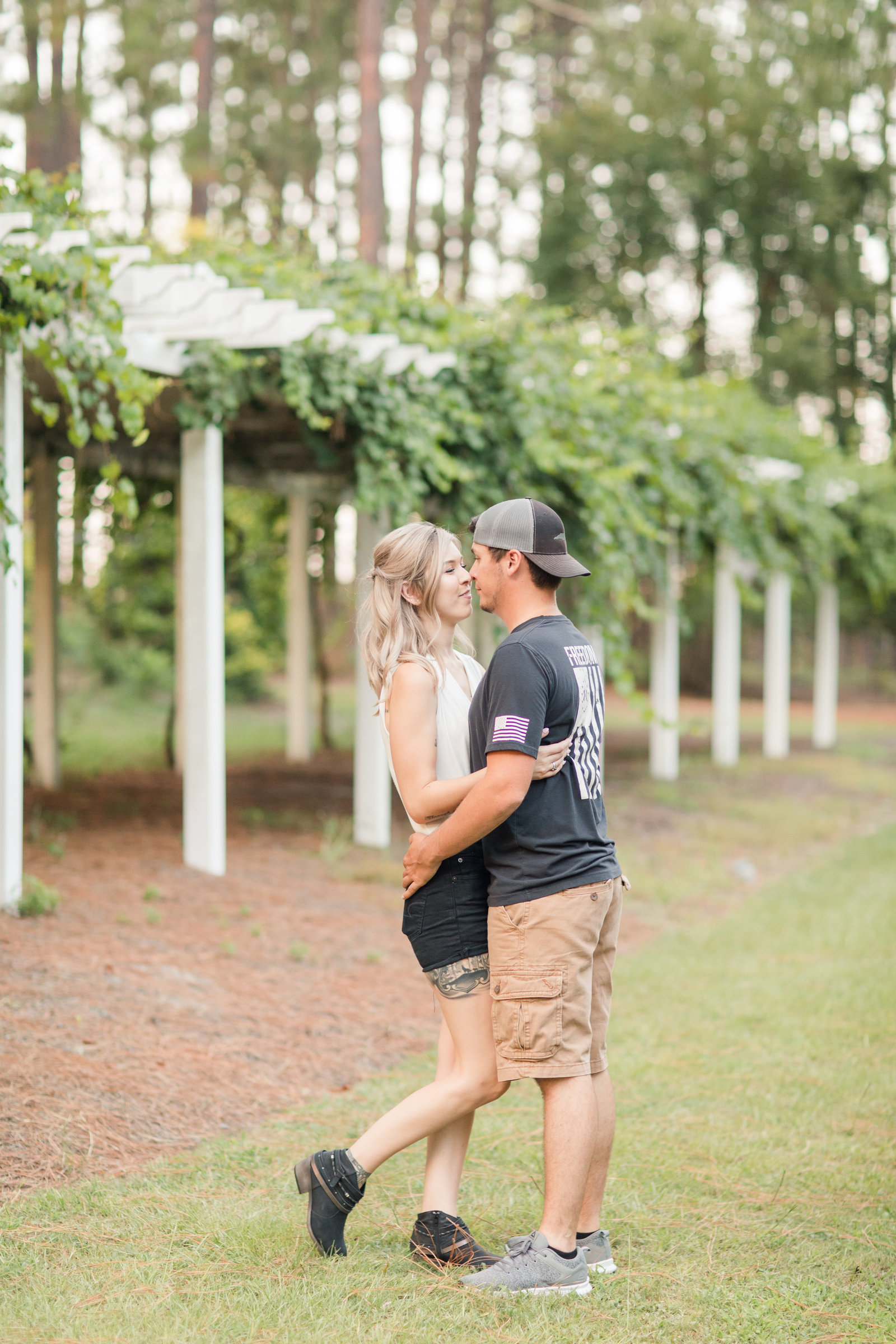 Jennifer B Photography-Sandhills Horticultural Gardens Engagement-Pinehurst NC-Cody and Kayla-2019-0285
