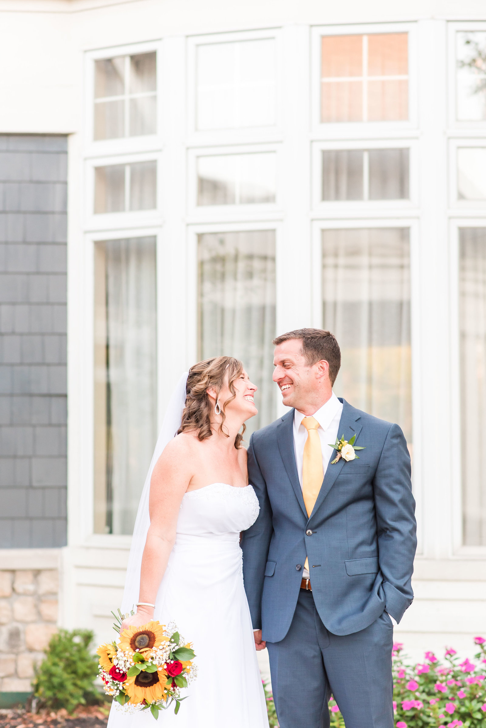 Navy and Yellow Wedding at Hawthorns Country Club