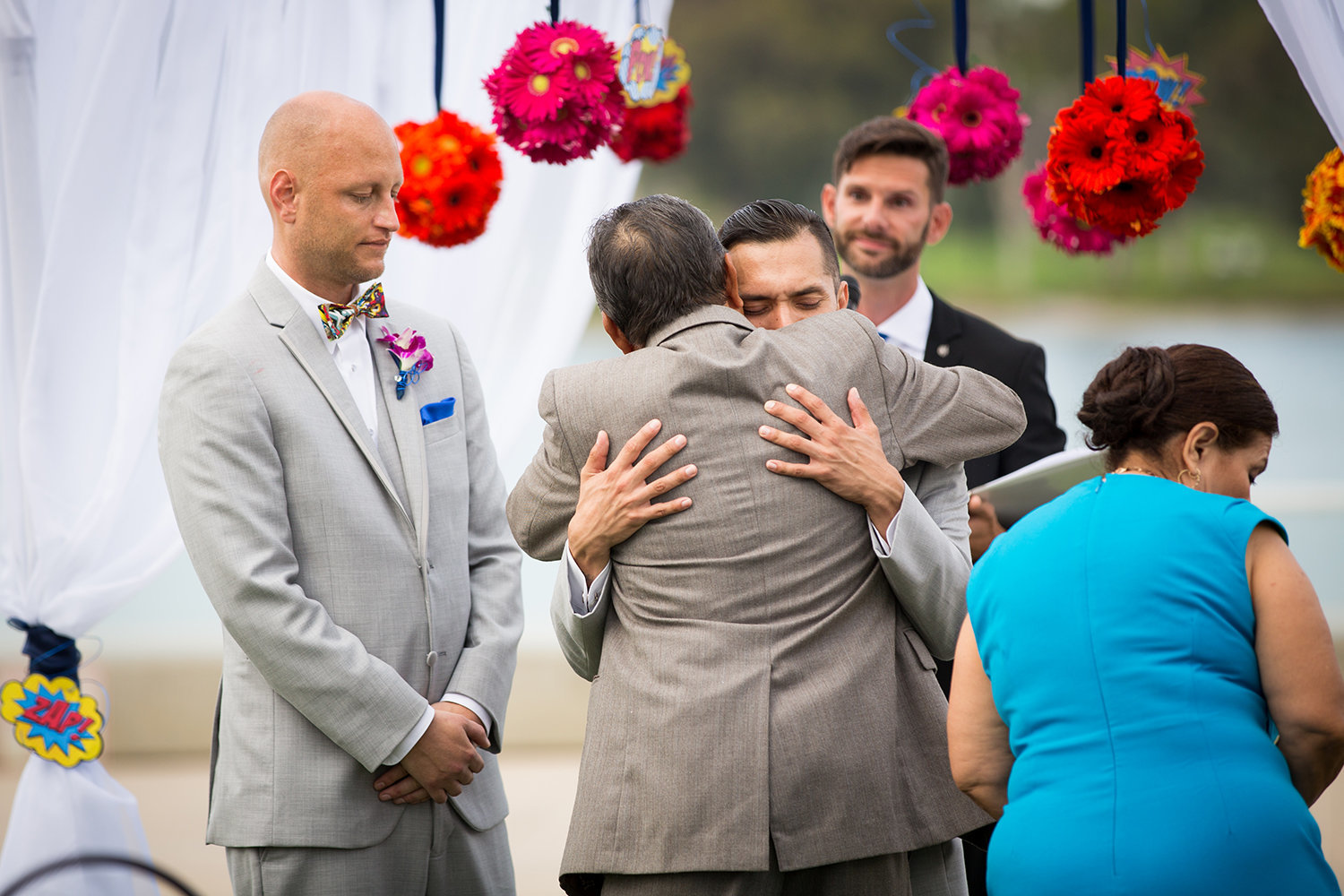 Emotional Moment During a Gay Wedding Ceremony in Coronado California