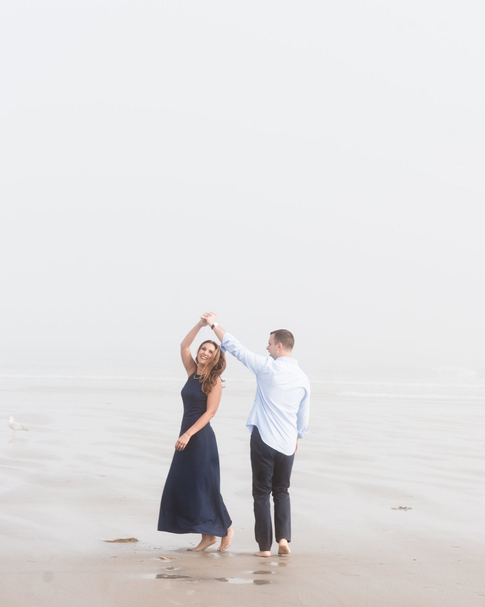 Good Harbor Beach Foggy Engagement