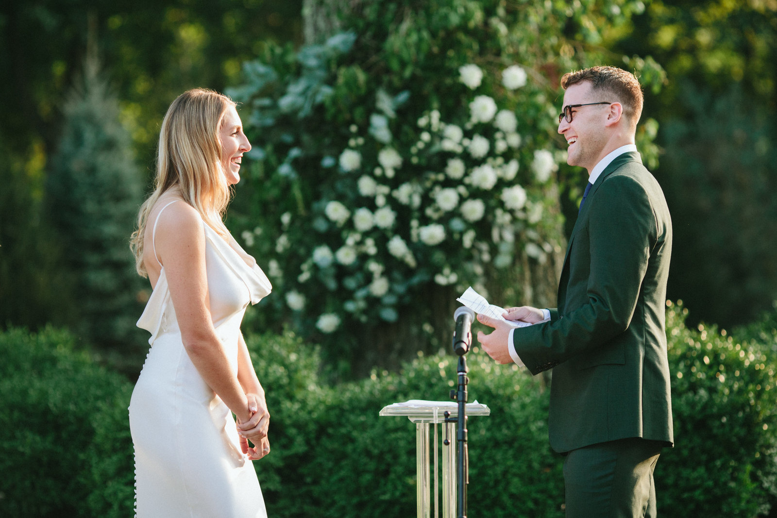 Outdoor Ceremony_Home Tented Wedding_Boho Wedding_Darien_Connecticut_5