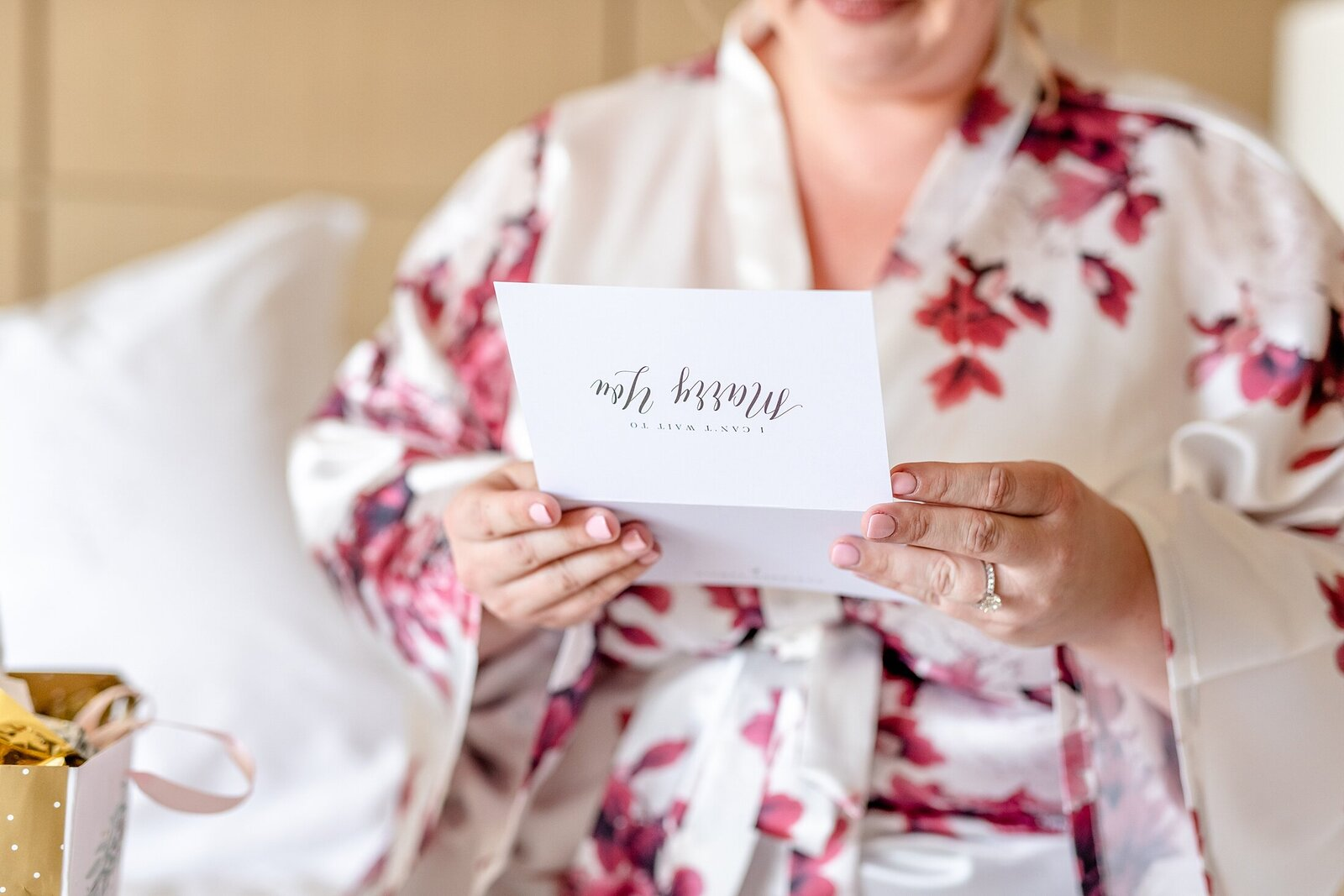 Bride reading letter from Groom | Four Seasons Wedding | Chynna Pacheco Photography