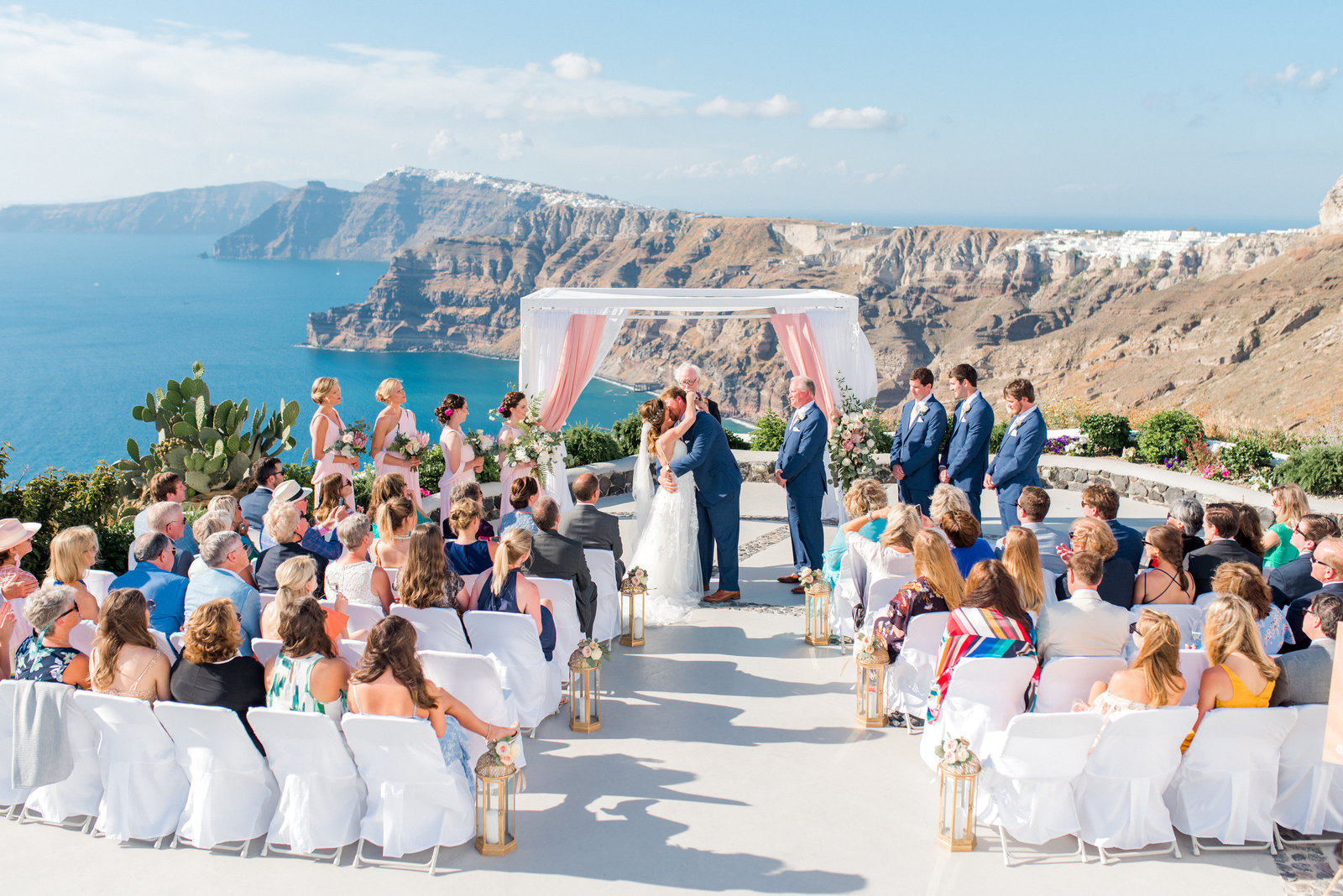 Santorini Greece wedding at Venesantos Winery