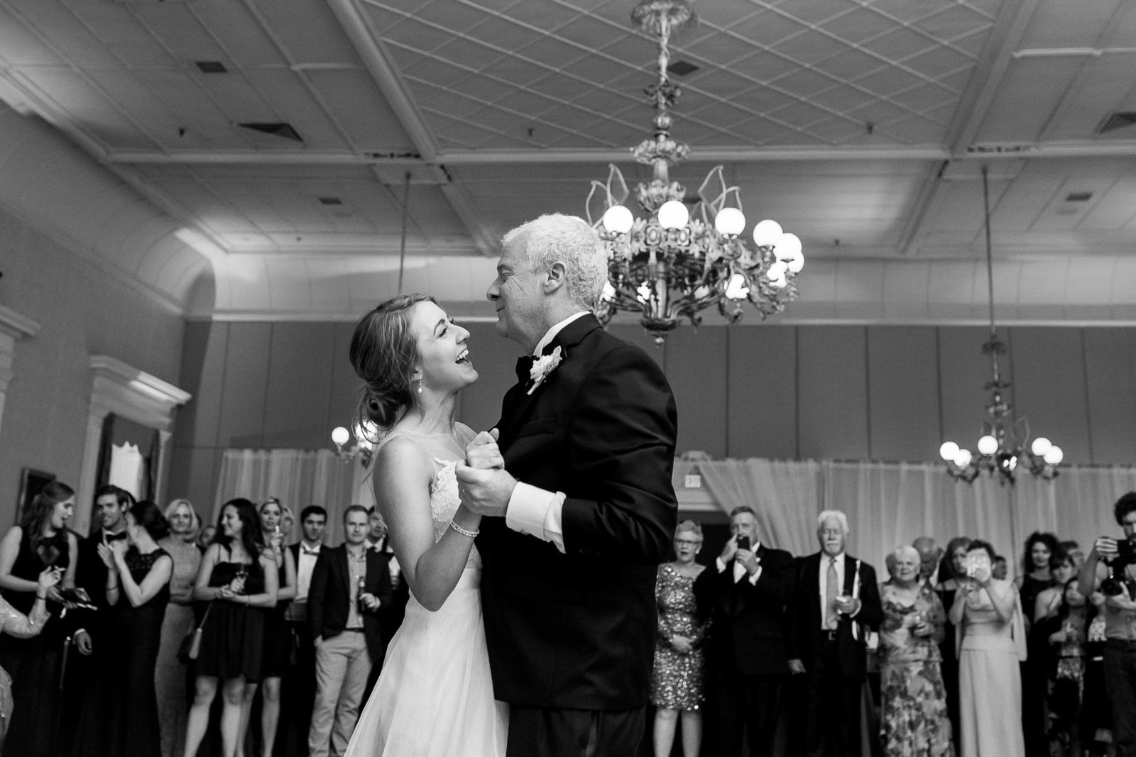 Bride and father dance, Hibernian Hall, Charleston, South Carolina