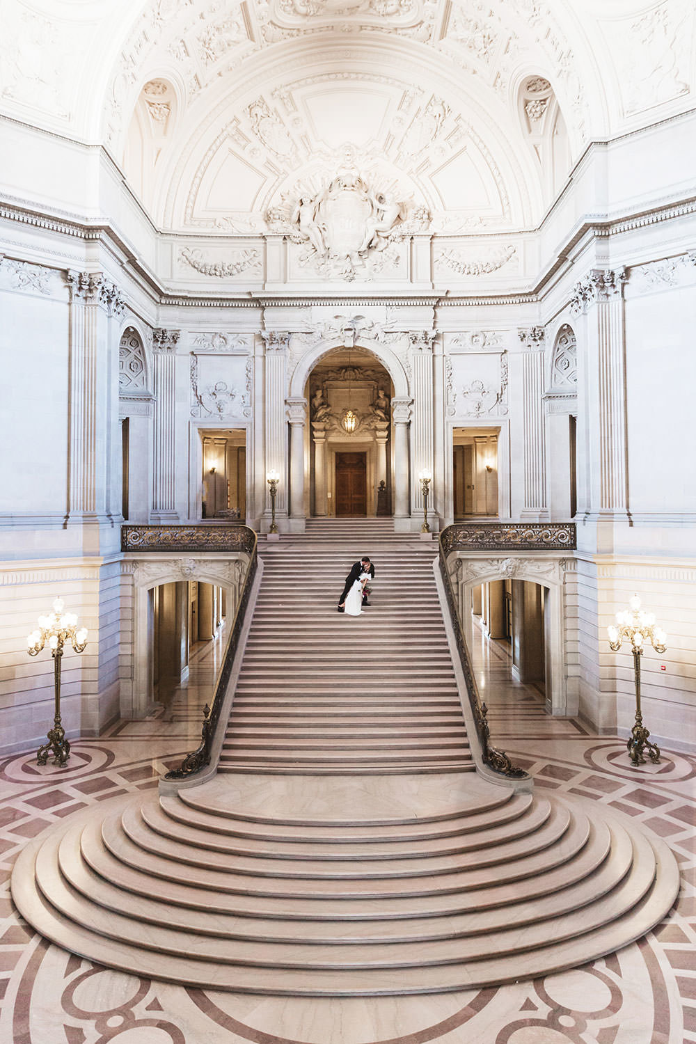 the most iconic photo of the grand staircase at city hall