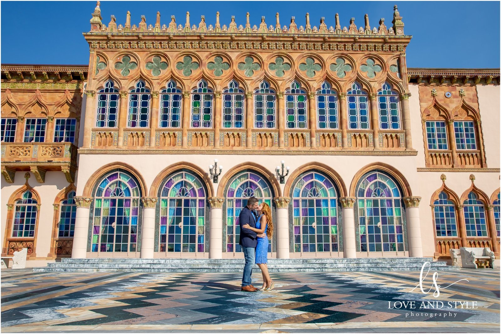 Engagement Photography at The Ringling Museum in Sarasota, Florida