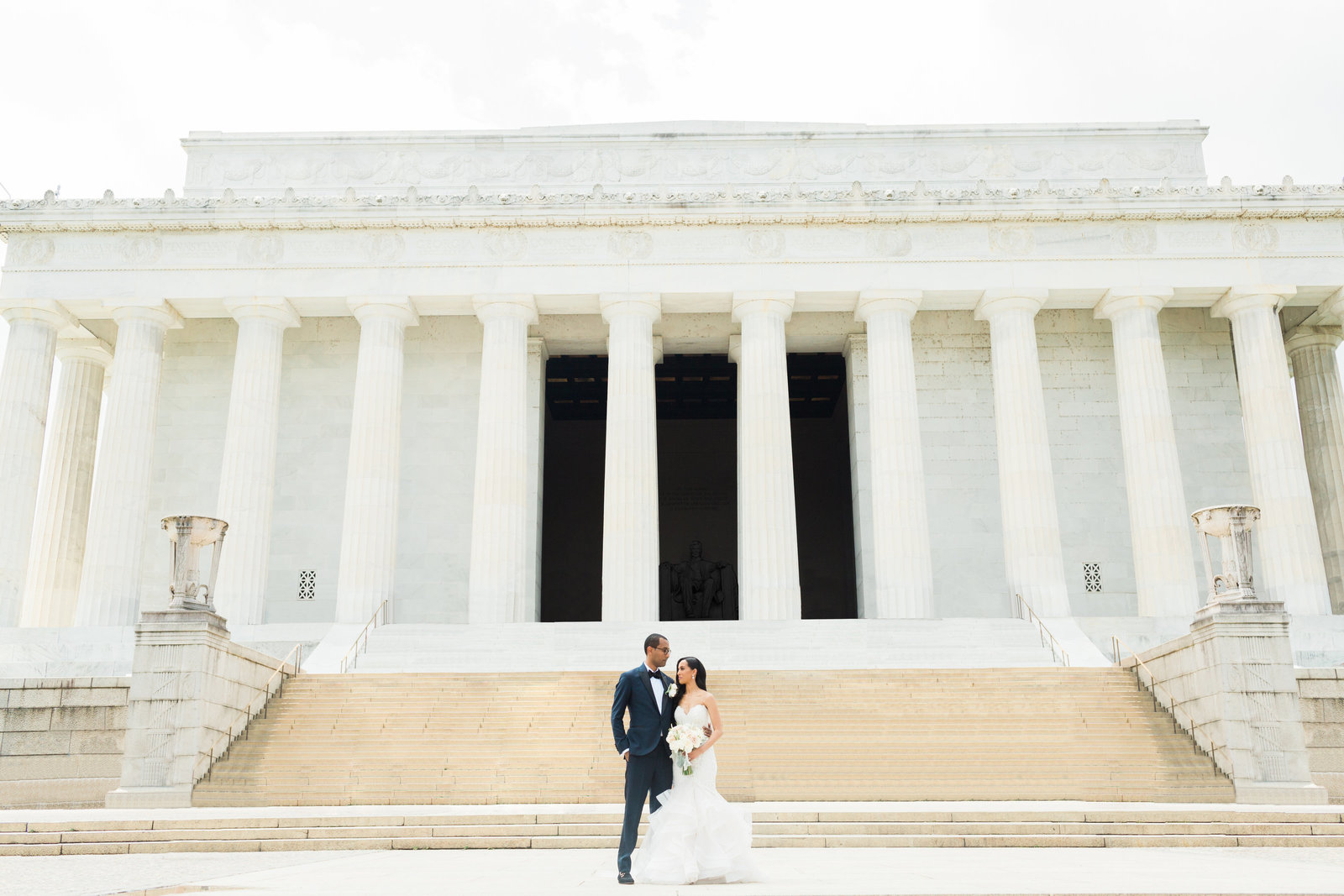 Lincoln Memorial wedding photography