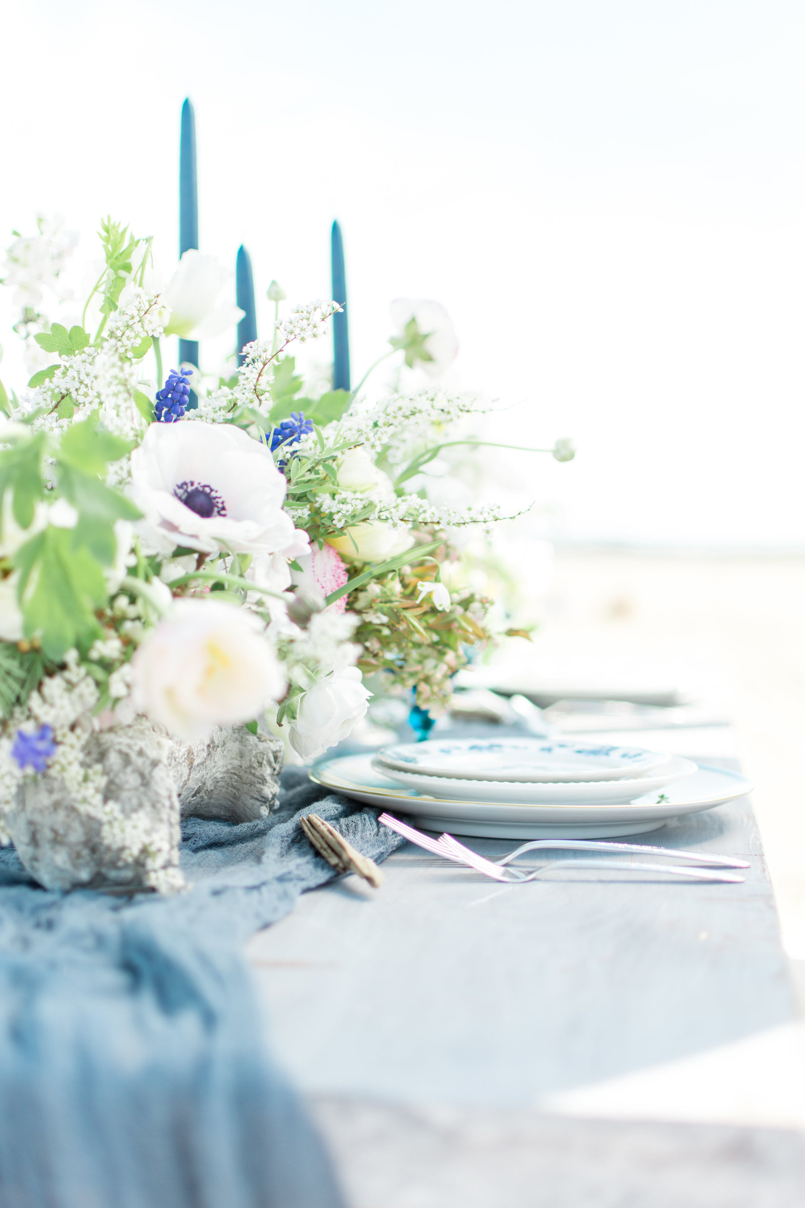 Coastal Wedding Tablescape