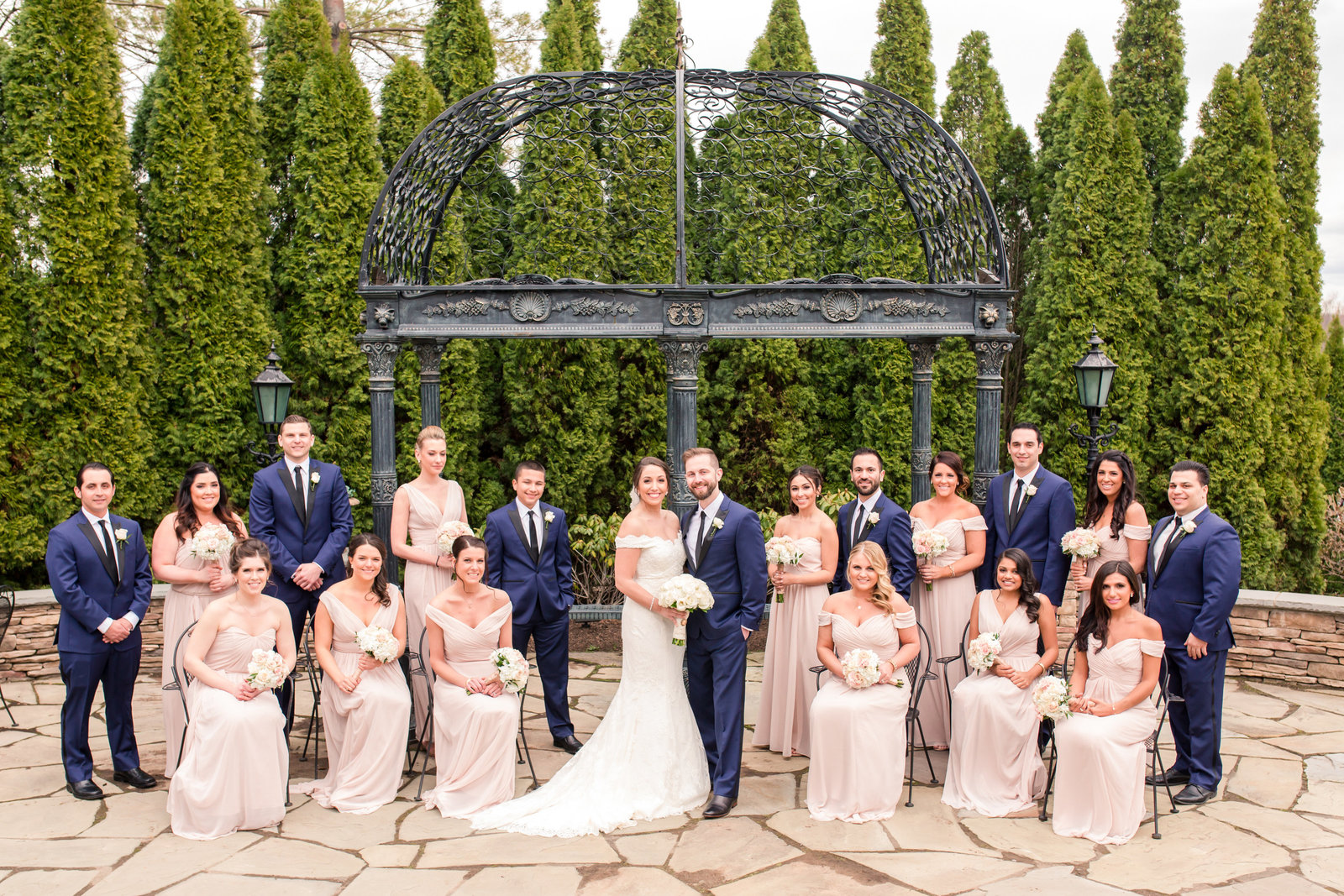 Bridal party photo at Park Savoy Estate