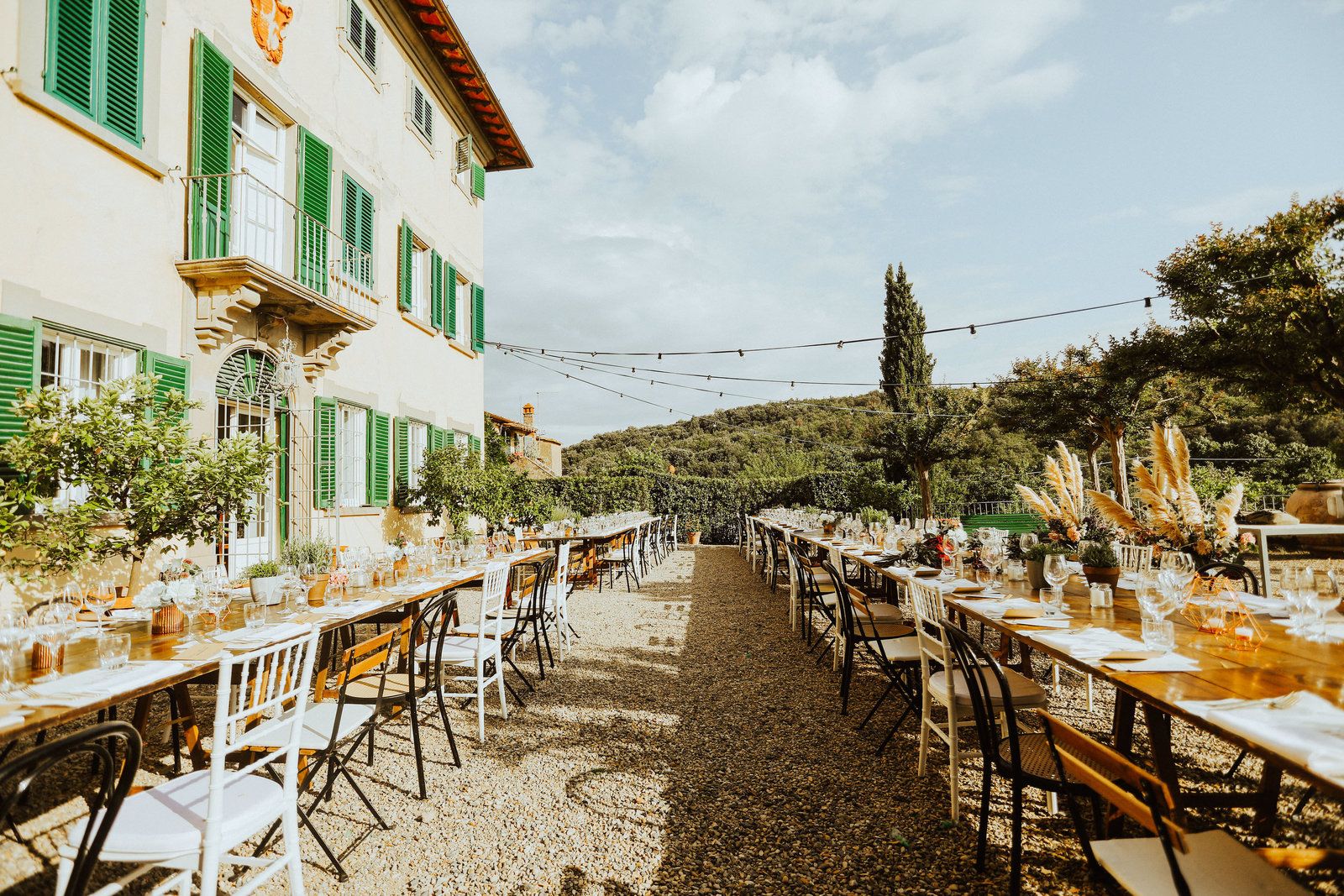 Tuscany italy wedding reception  destination bay area wedding photographer