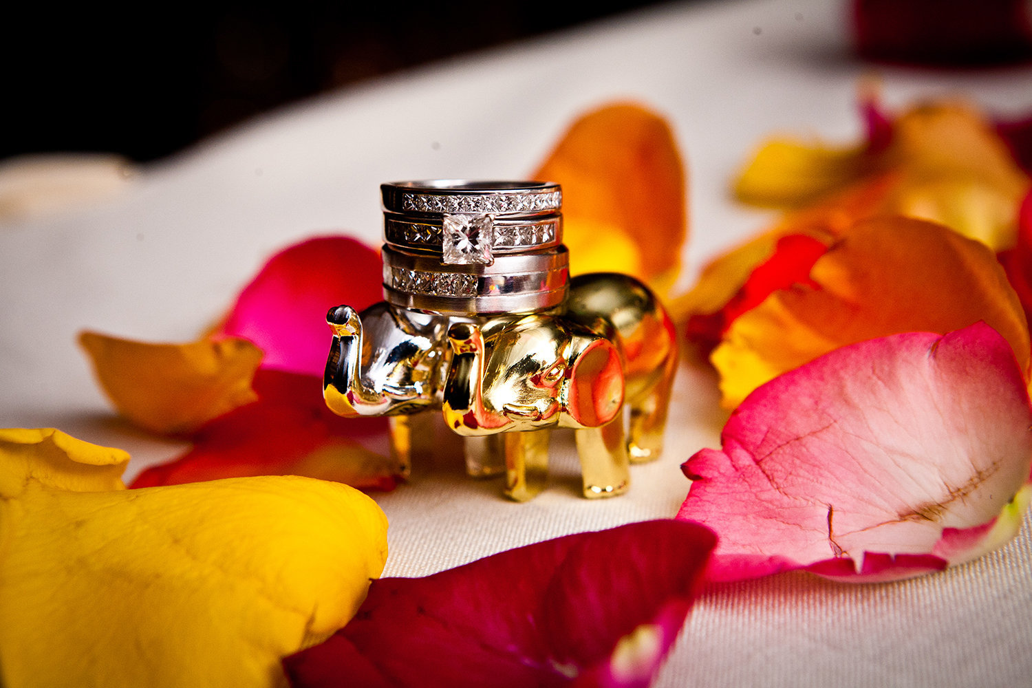 Creative Ring Detail Photo at Indian Wedding