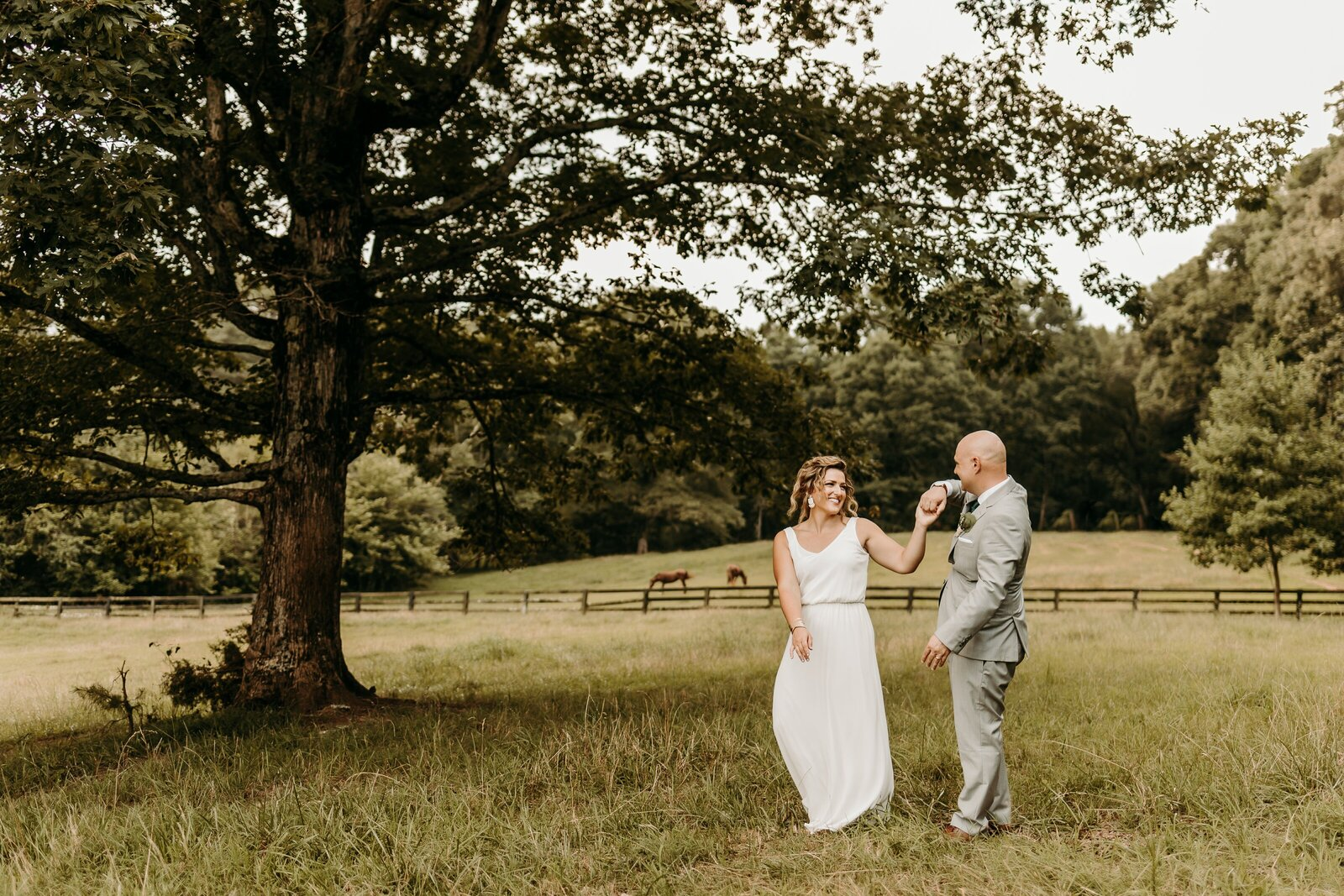 J.Michelle Photography photographs bride and groom