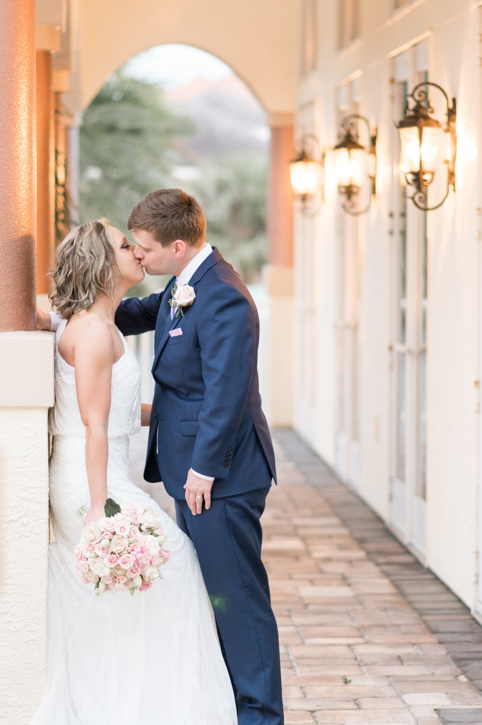 charlotte wedding photographer shot of  of bride and groom kissing
