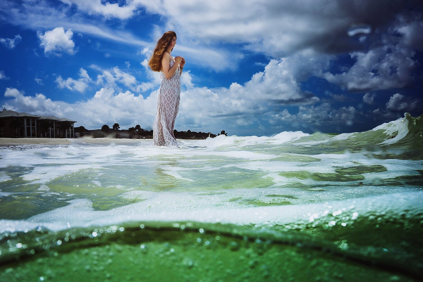 girl on beach water photography