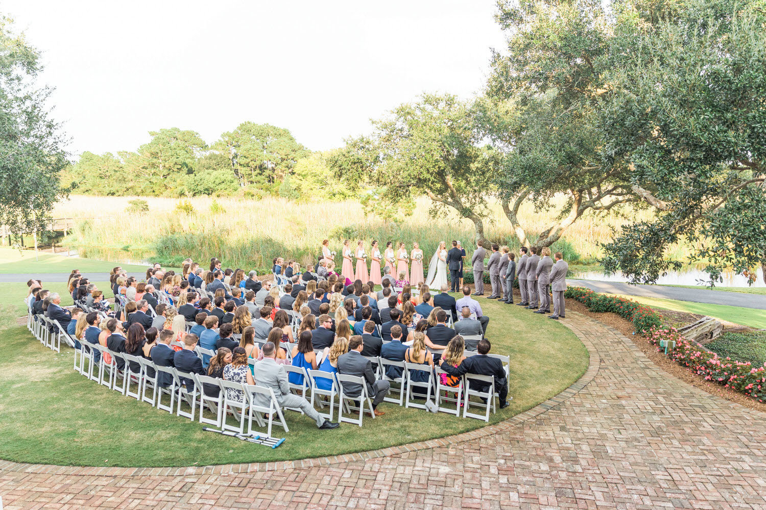 guests seated at Debordieu wedding ceremony