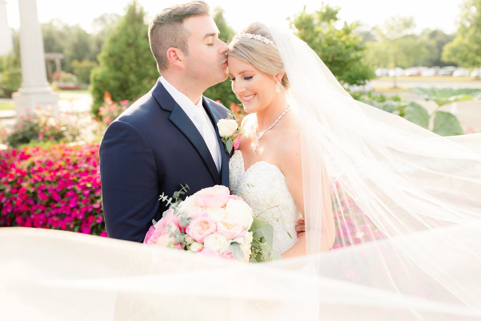 Romantic bride and groom photo at The Palace at Somerset Park