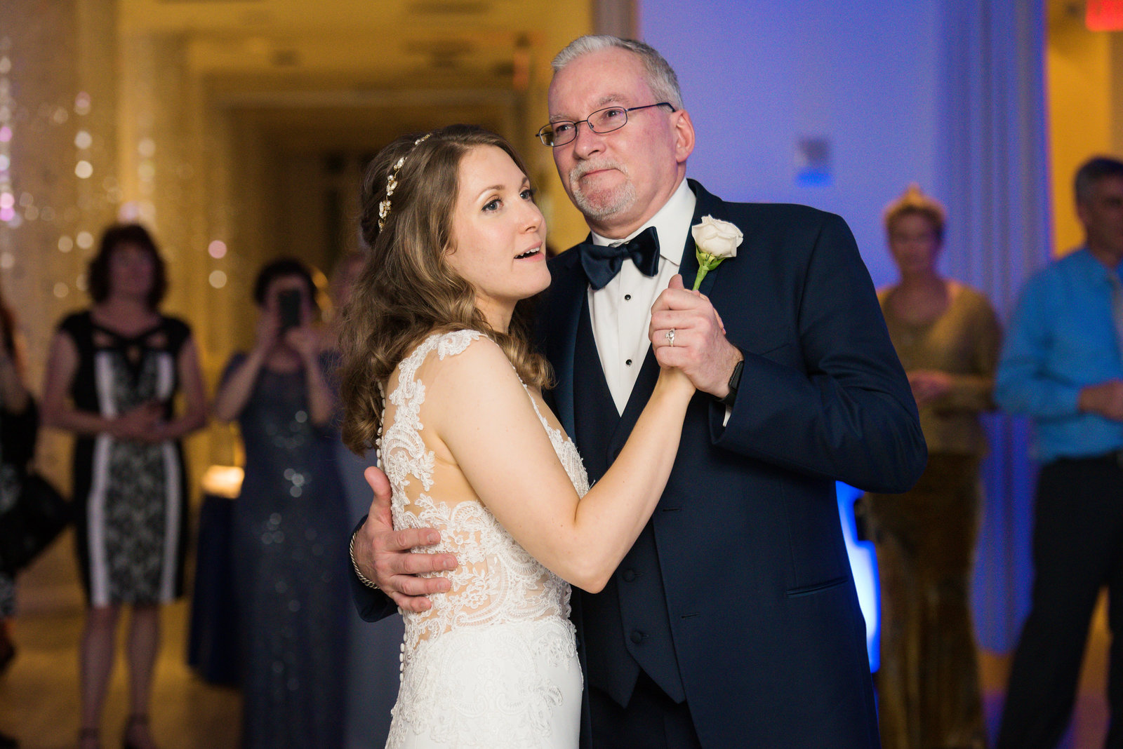 Bride dancing with her father at  Allegria Hotel