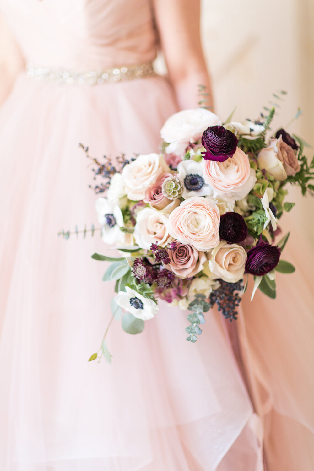 jacksonville florida wedding blush and mauve floral design