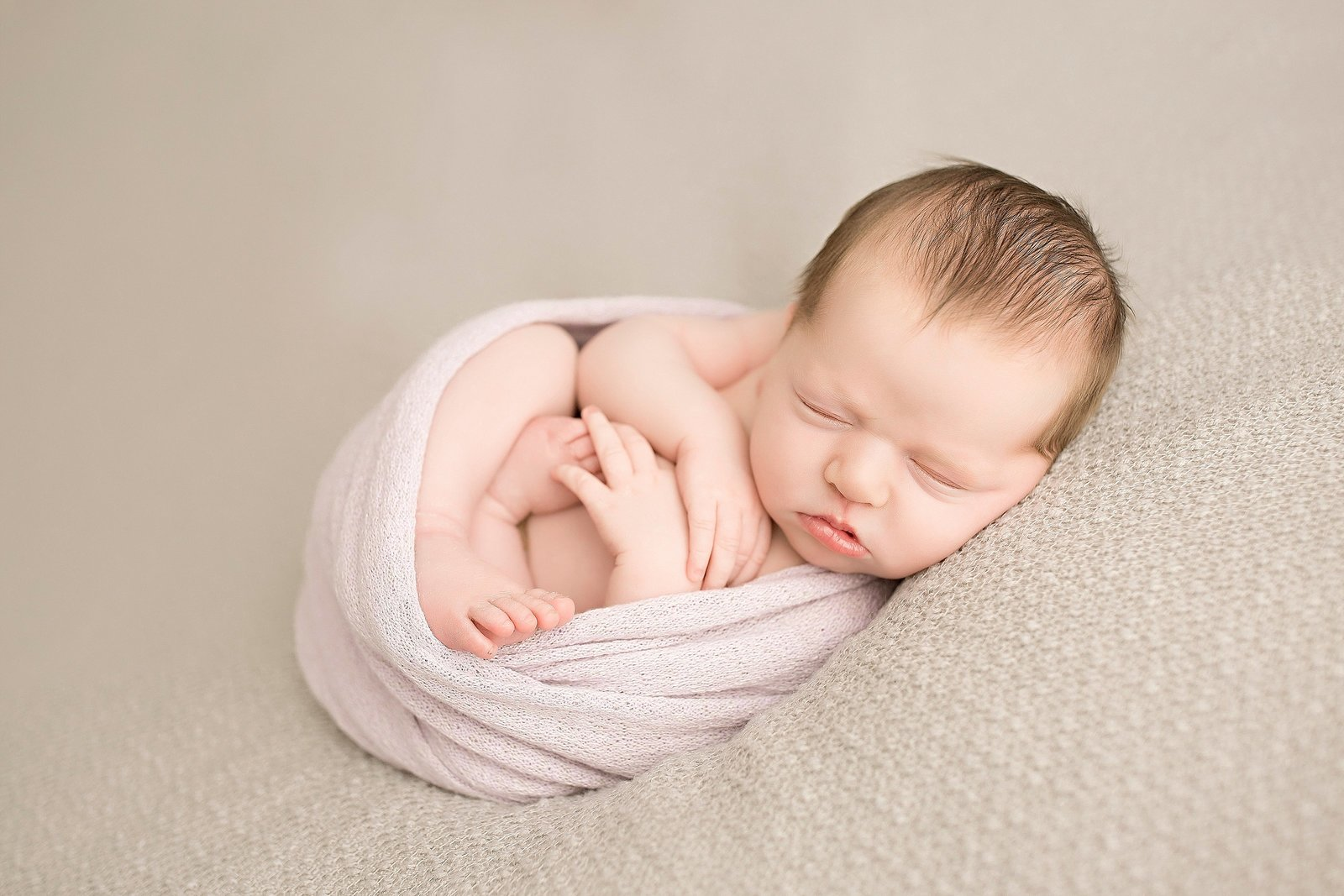 Newborn girl in studio session