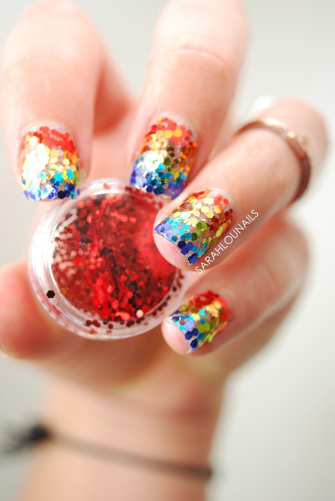 Rainbow Glitter Nails 2 copy