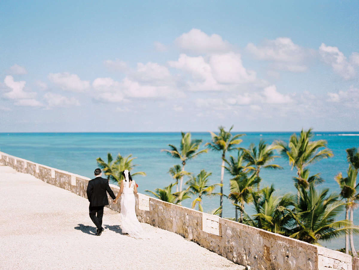 Bride and groom at Sanctuary Cap Cana