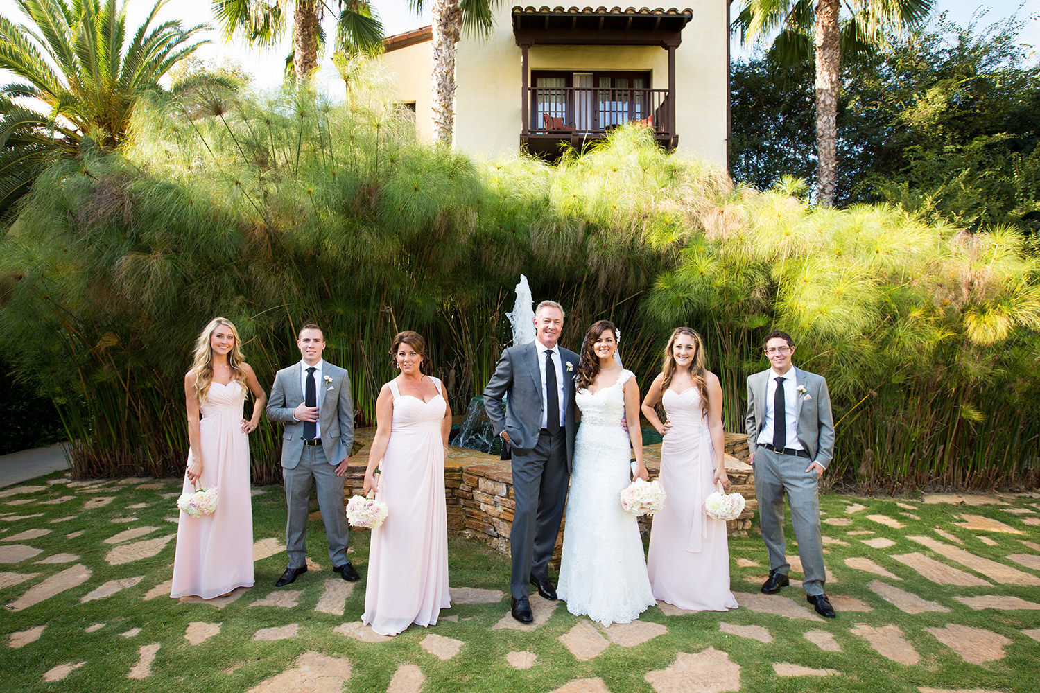 Atypical wedding party portrait