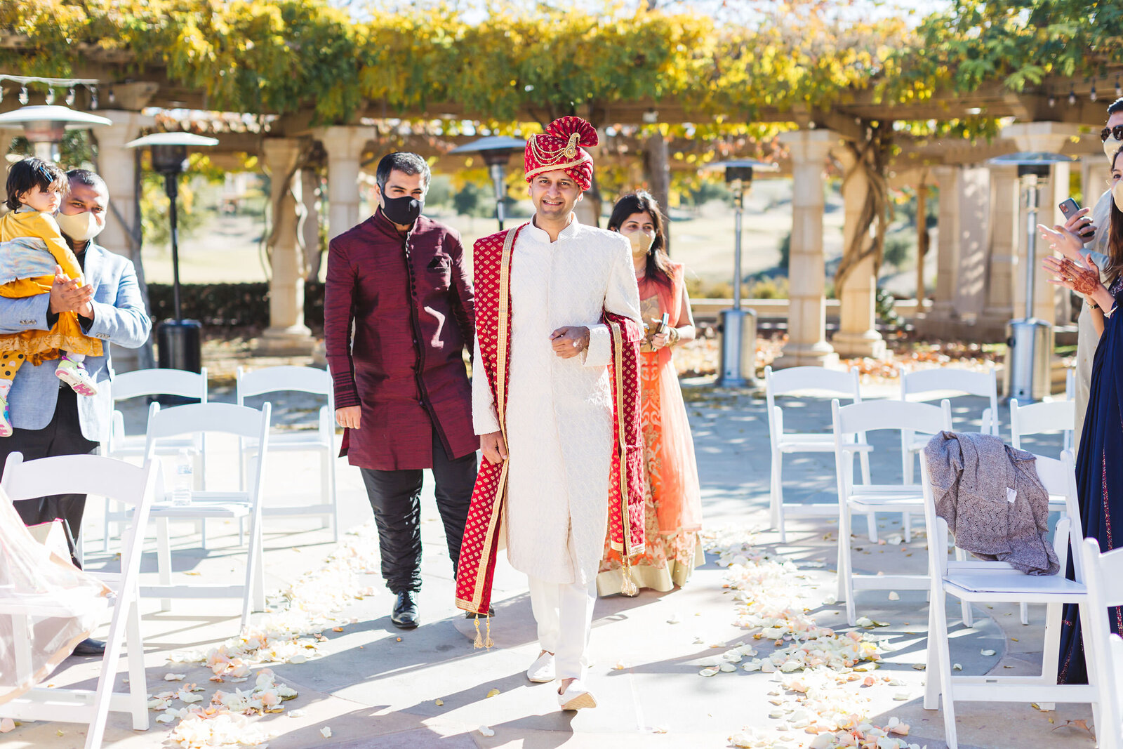 indian wedding at the club at ruby hill