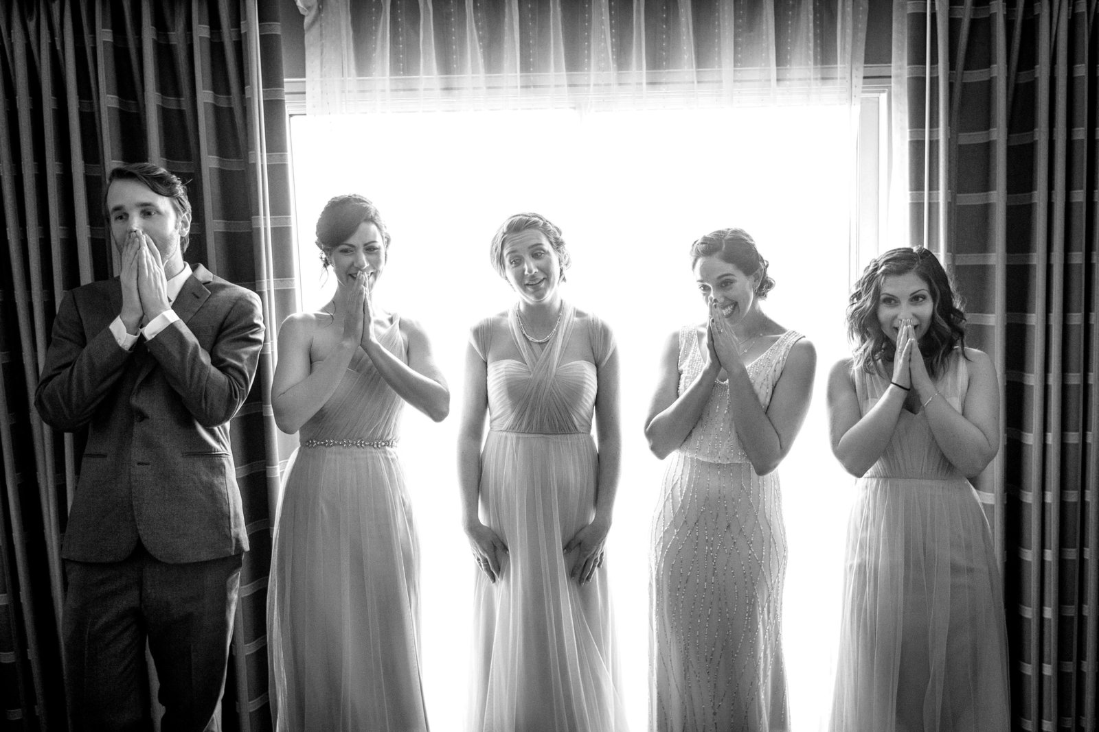 Granbury Texas bridal party reactions